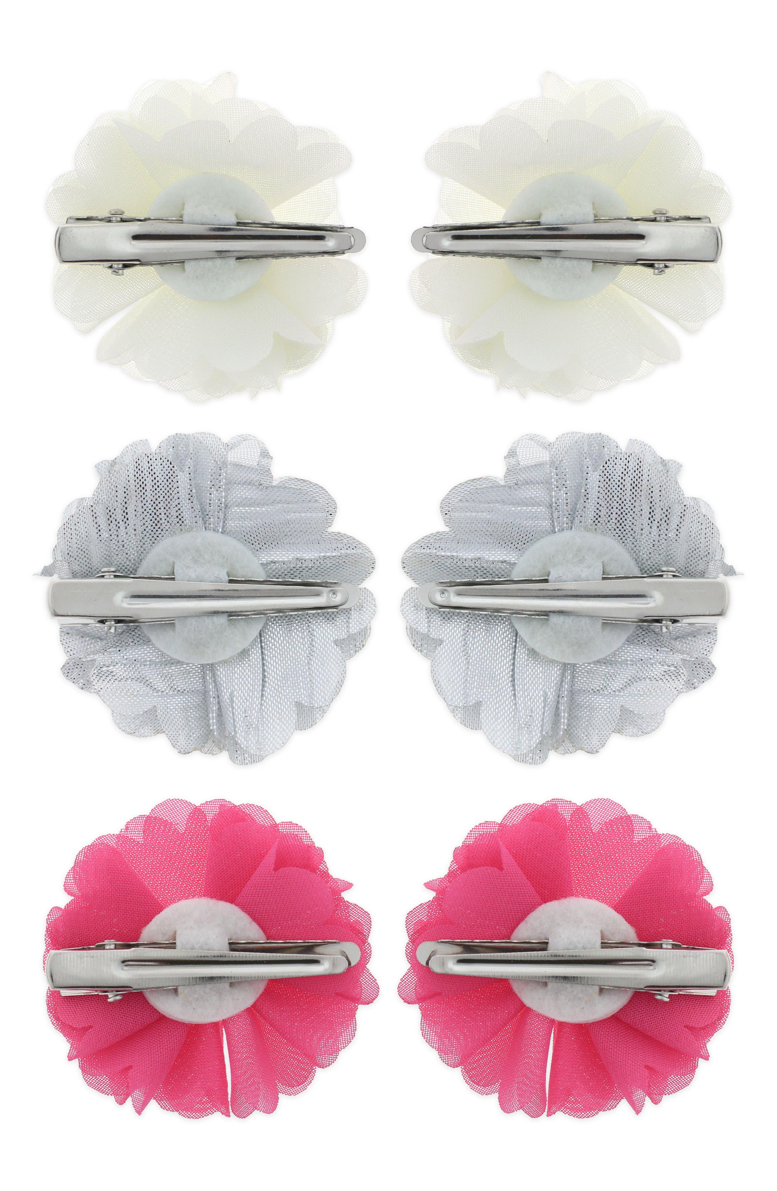 6-Piece Hair Clip Set,                             Alternate thumbnail 2, color,                             FUCHSIA