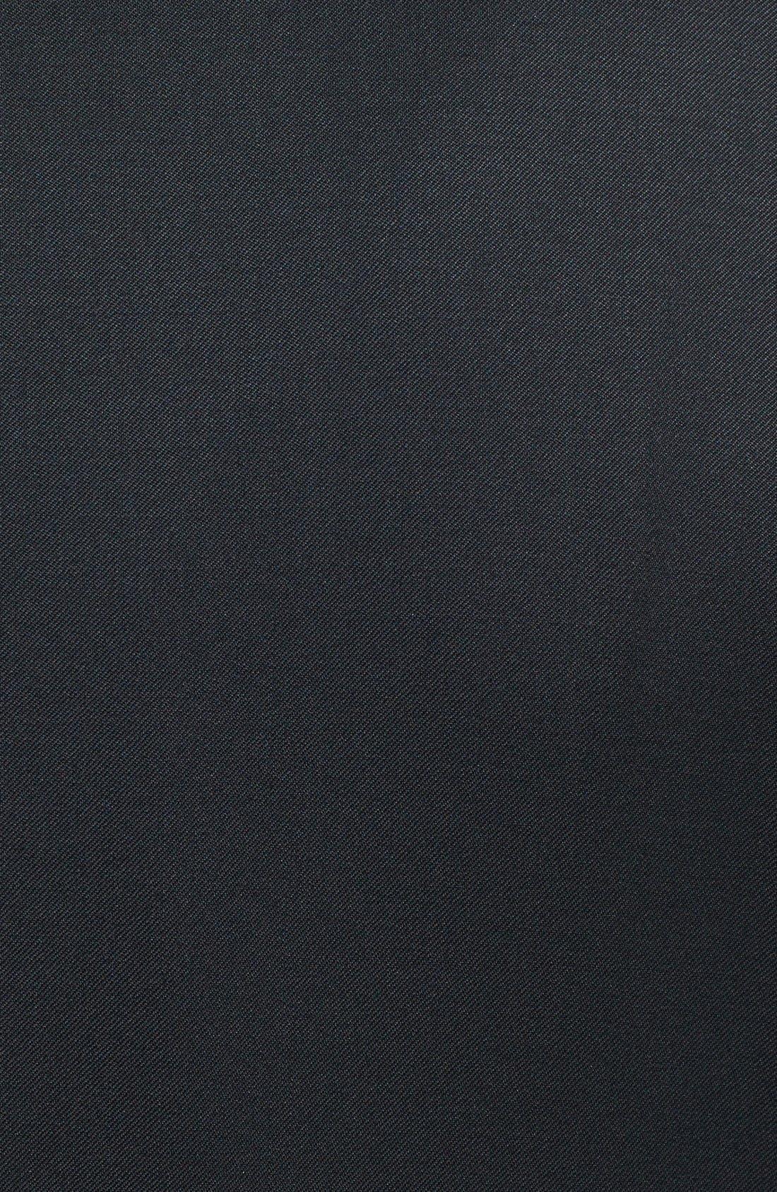 Russell Classic Fit Loro Piana Wool Tuxedo,                             Alternate thumbnail 8, color,                             BLACK