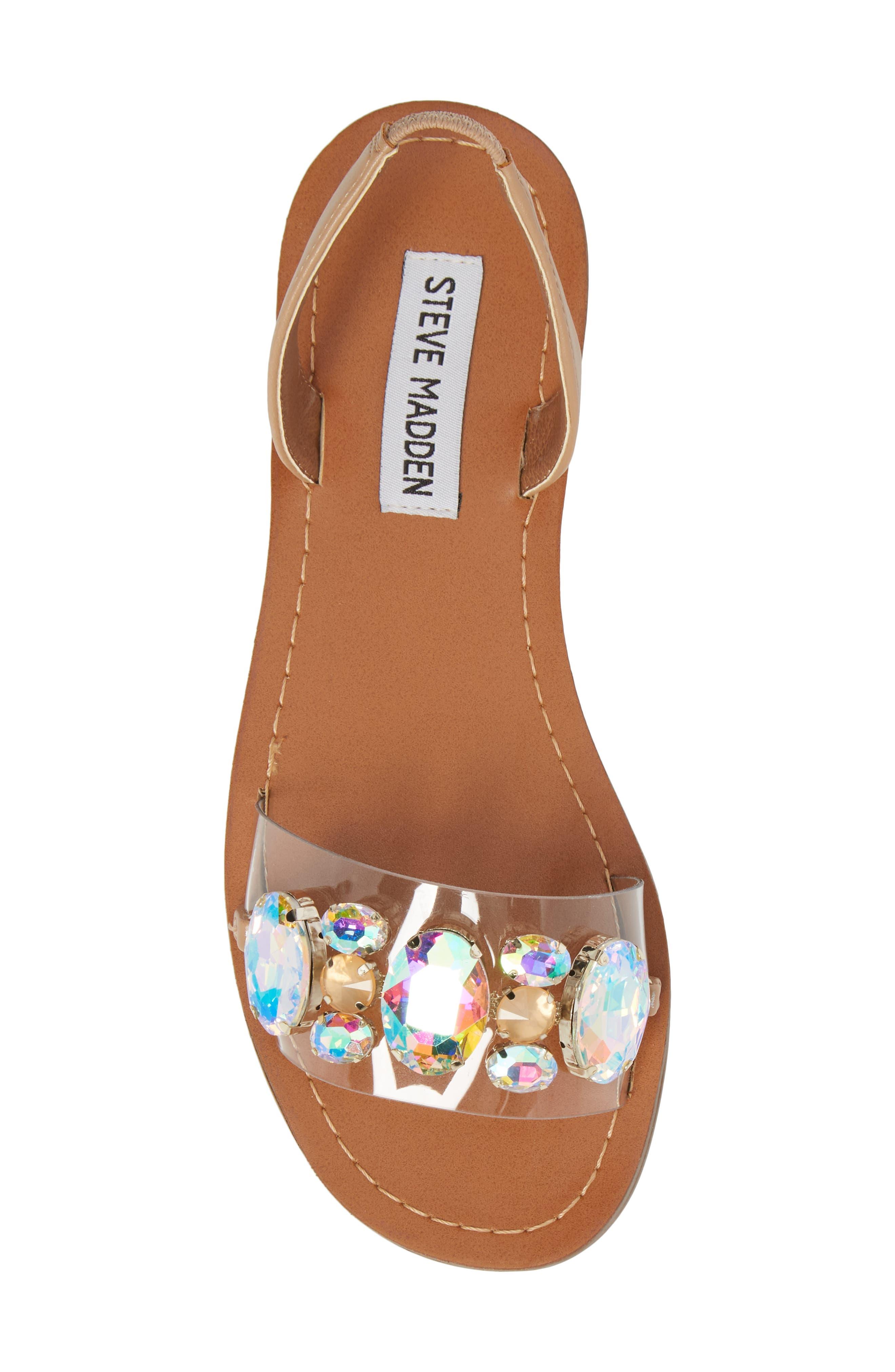 Alice Crystal Embellished Sandal,                             Alternate thumbnail 5, color,