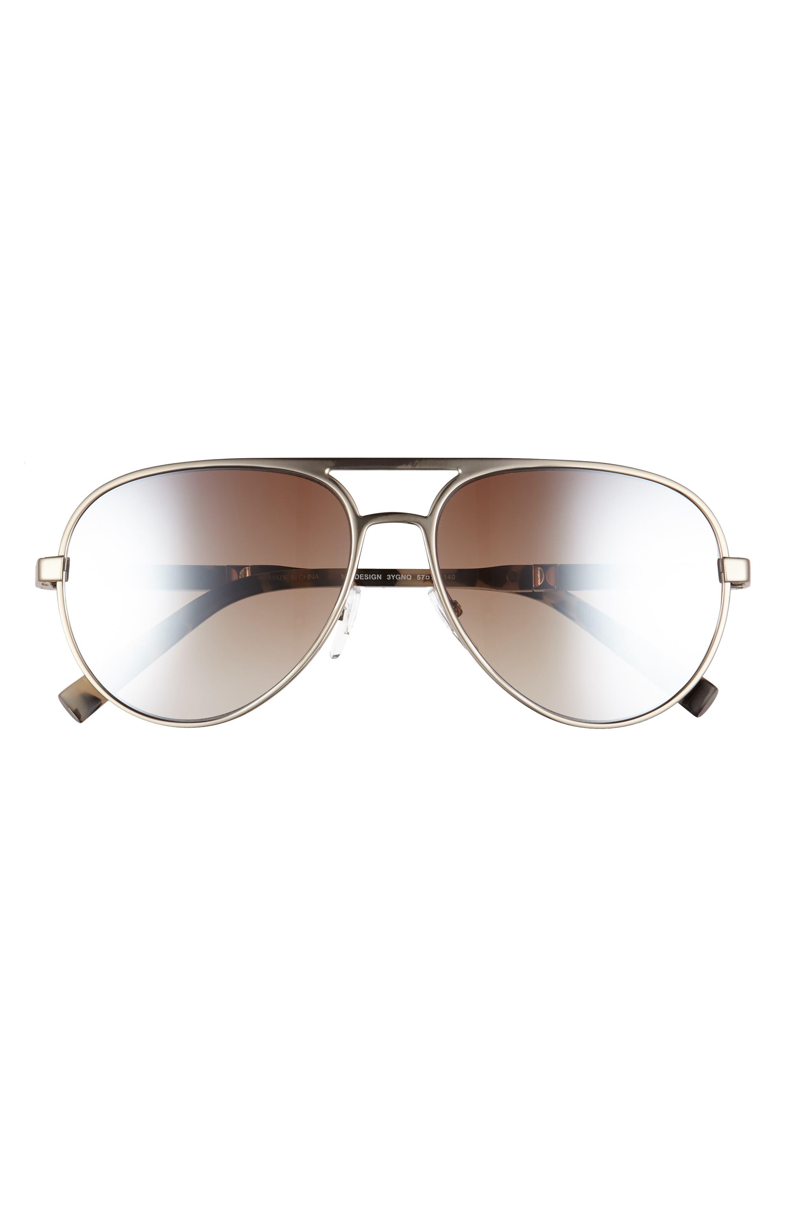 Desigs 57mm Gradient Aviator Sunglasses,                             Alternate thumbnail 6, color,