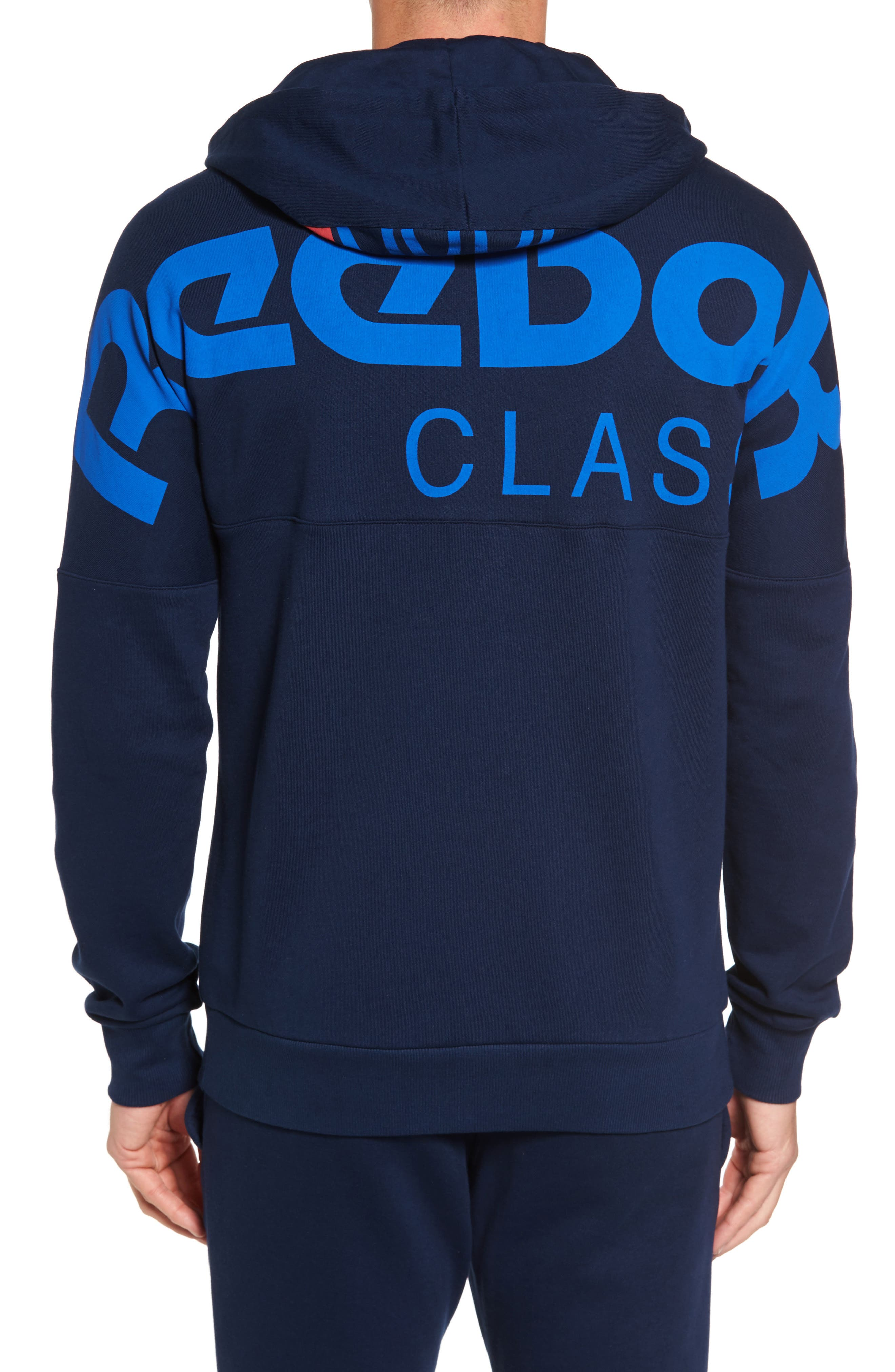 Classic Graphic Zip Hoodie,                             Alternate thumbnail 4, color,