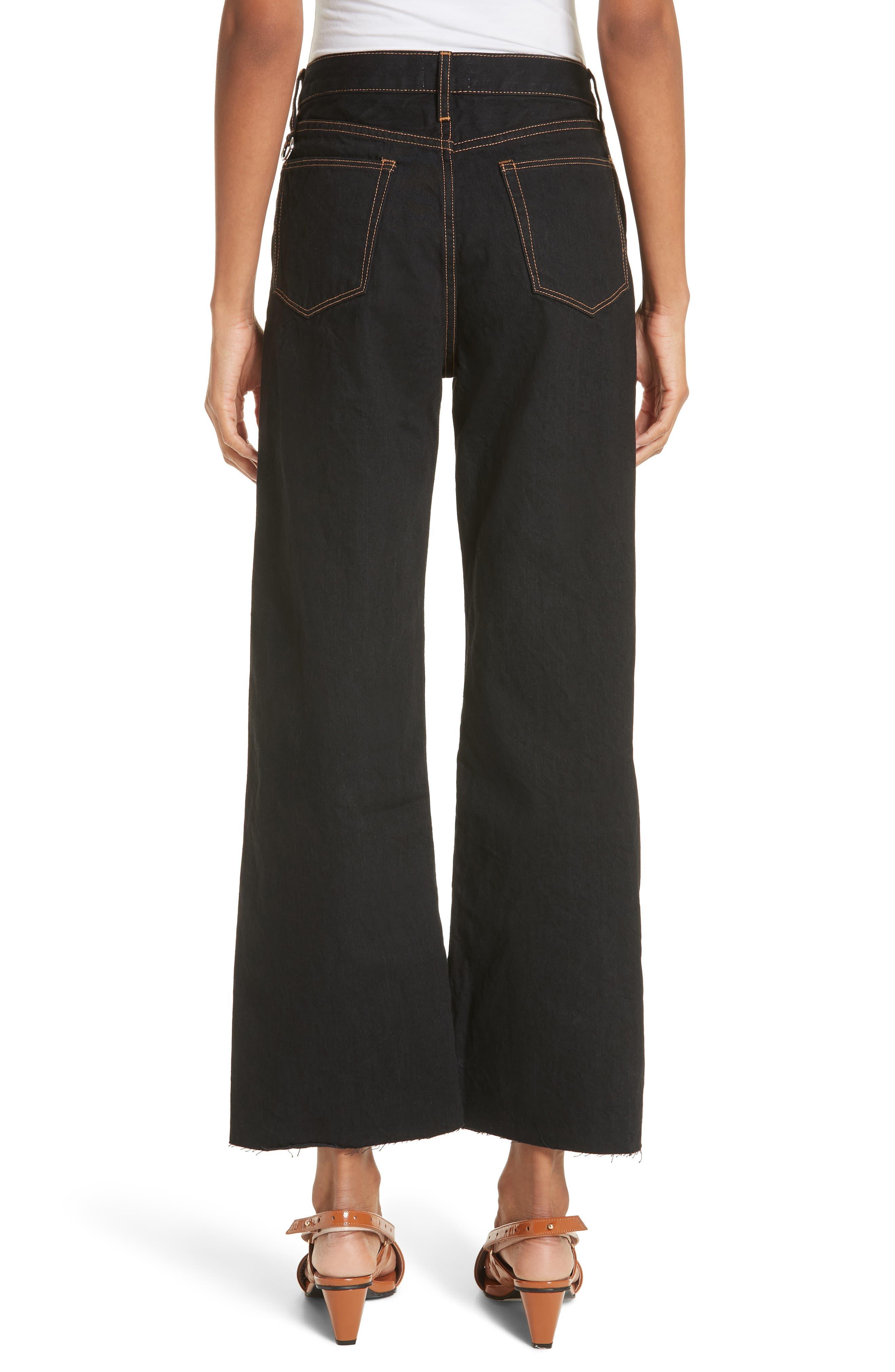 Dever Contrast Stitch Wide Leg Jeans,                             Alternate thumbnail 2, color,