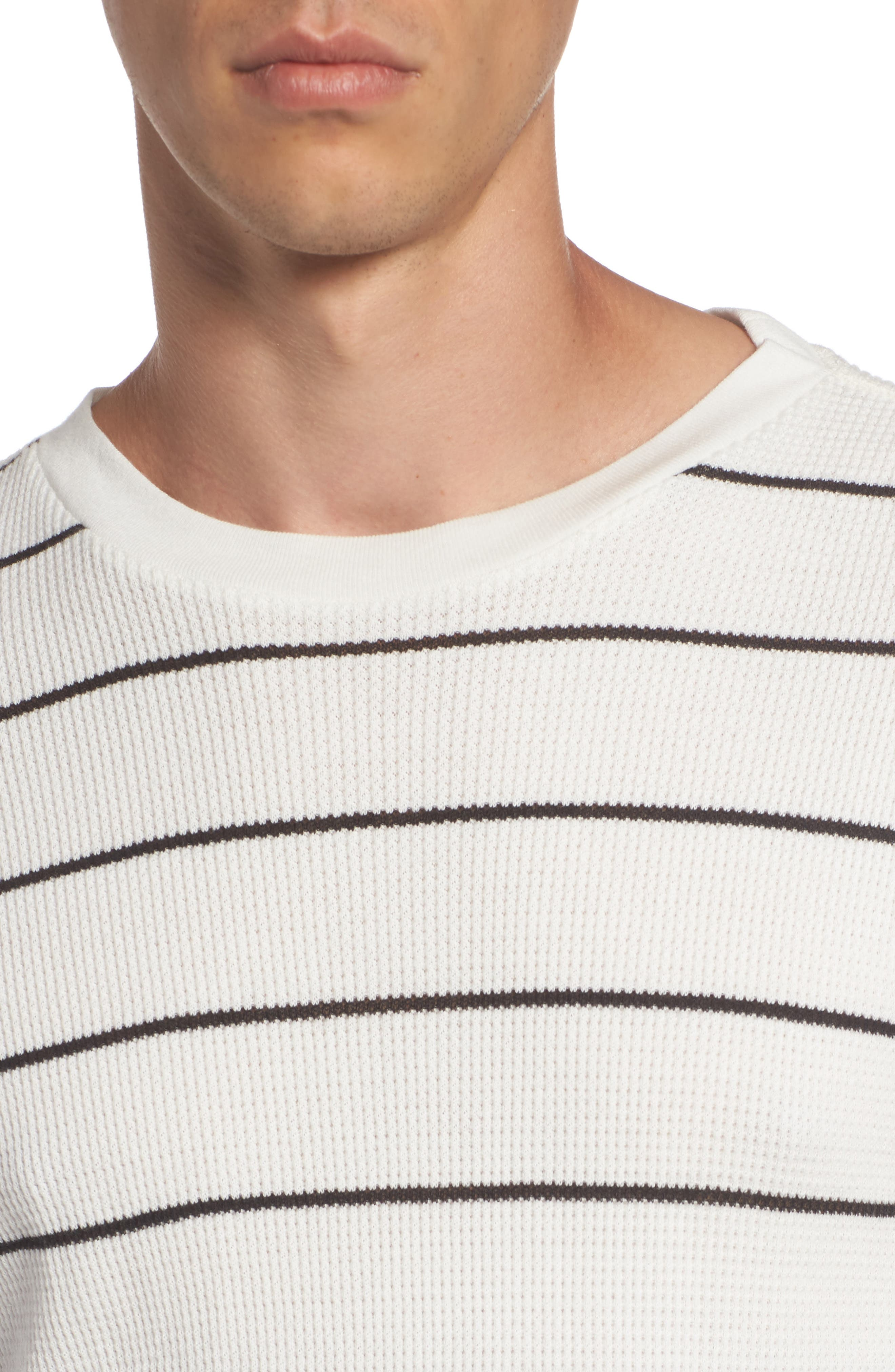 Neutral Stripe Thermal T-Shirt,                             Alternate thumbnail 4, color,                             111