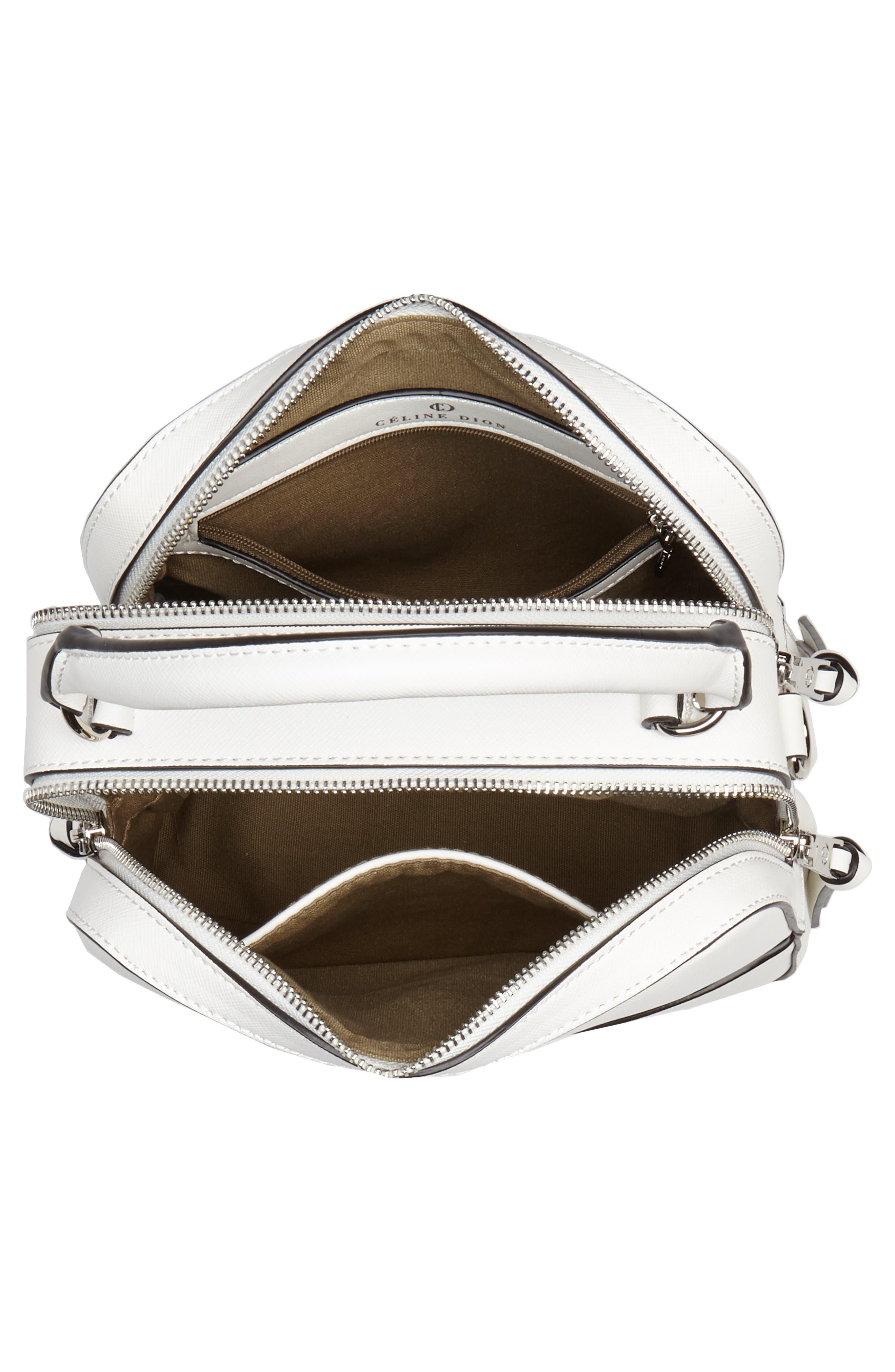 Céline Dion Motif Top Handle Leather Satchel,                             Alternate thumbnail 12, color,