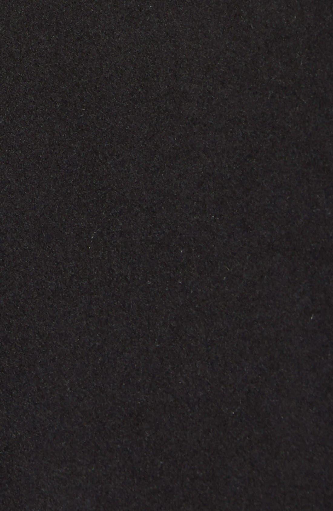 Faux Leather & Faux Fur Trim Belted Wool Blend Coat,                             Alternate thumbnail 13, color,