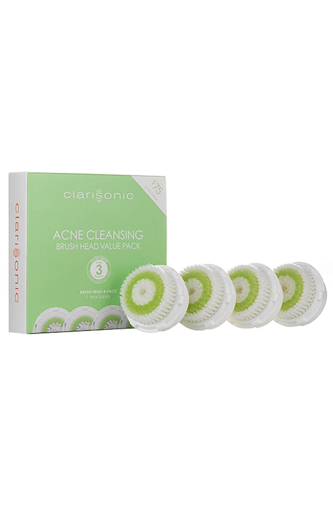 Acne Cleansing Replacement Brush Heads for Acne-Prone Skin,                             Alternate thumbnail 2, color,                             000