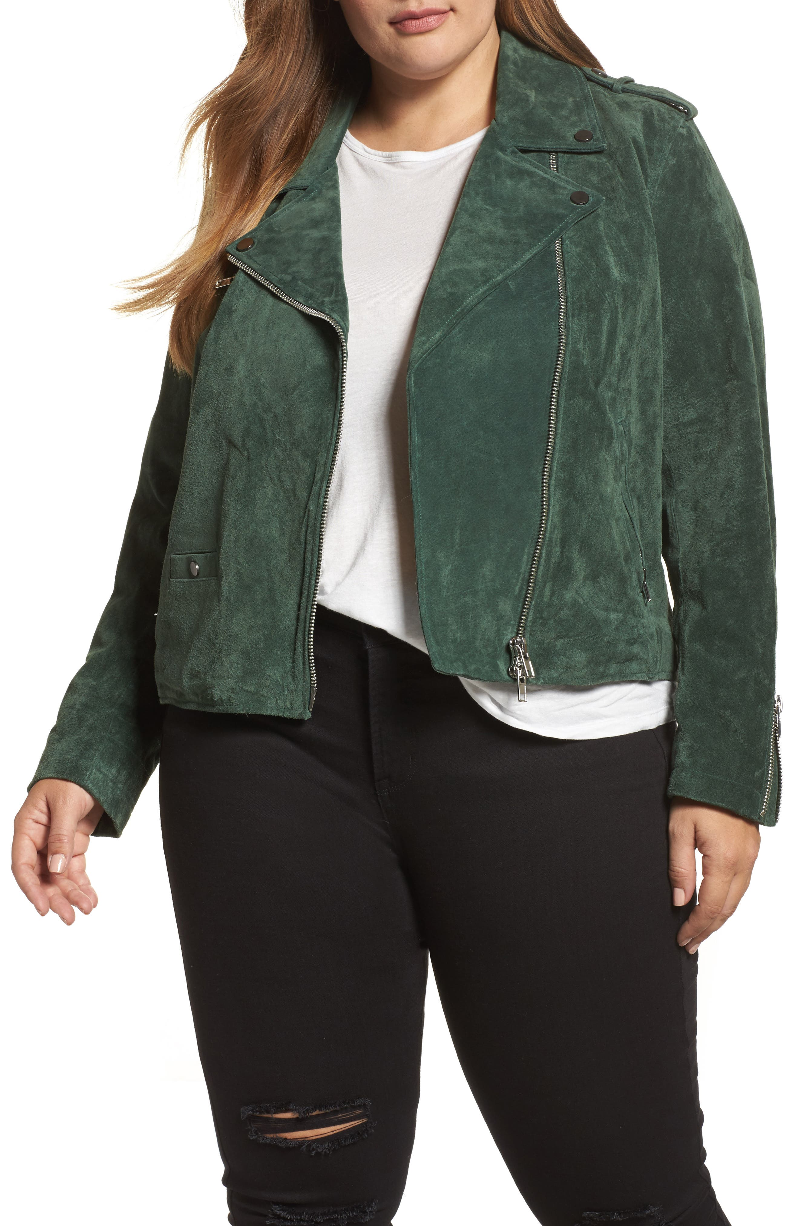 Suede Moto Jacket,                             Main thumbnail 2, color,