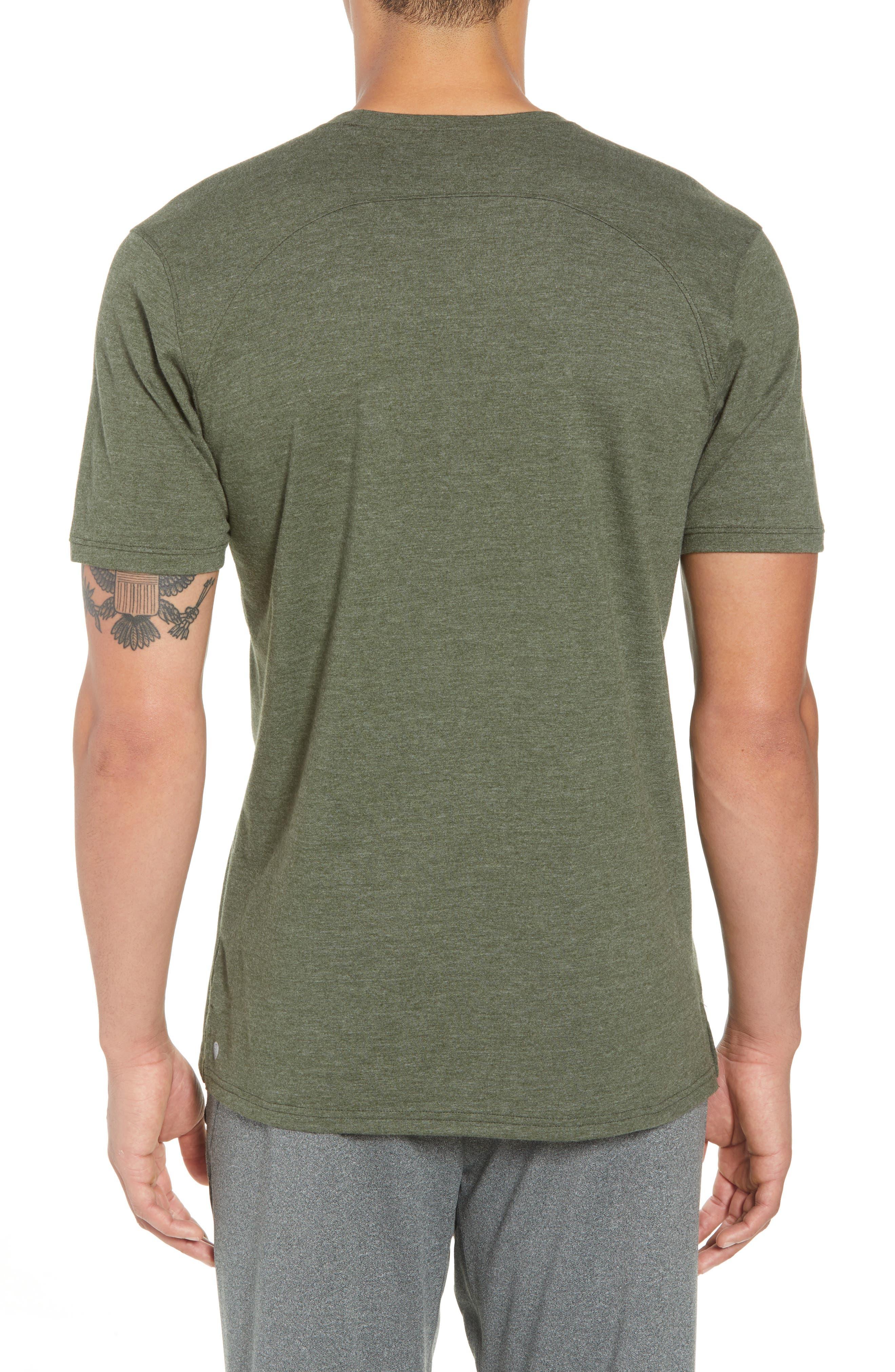 Perfomance T-Shirt,                             Alternate thumbnail 2, color,                             GREEN TACTICAL MELANGE