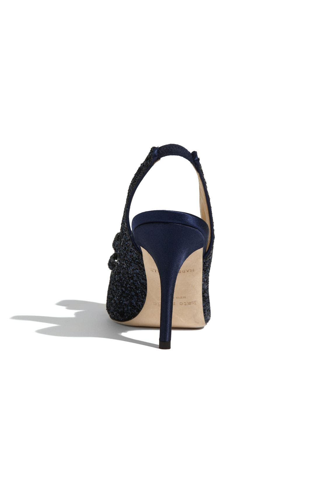 'charm' slingback pump,                             Alternate thumbnail 2, color,                             NAVY GLITTER