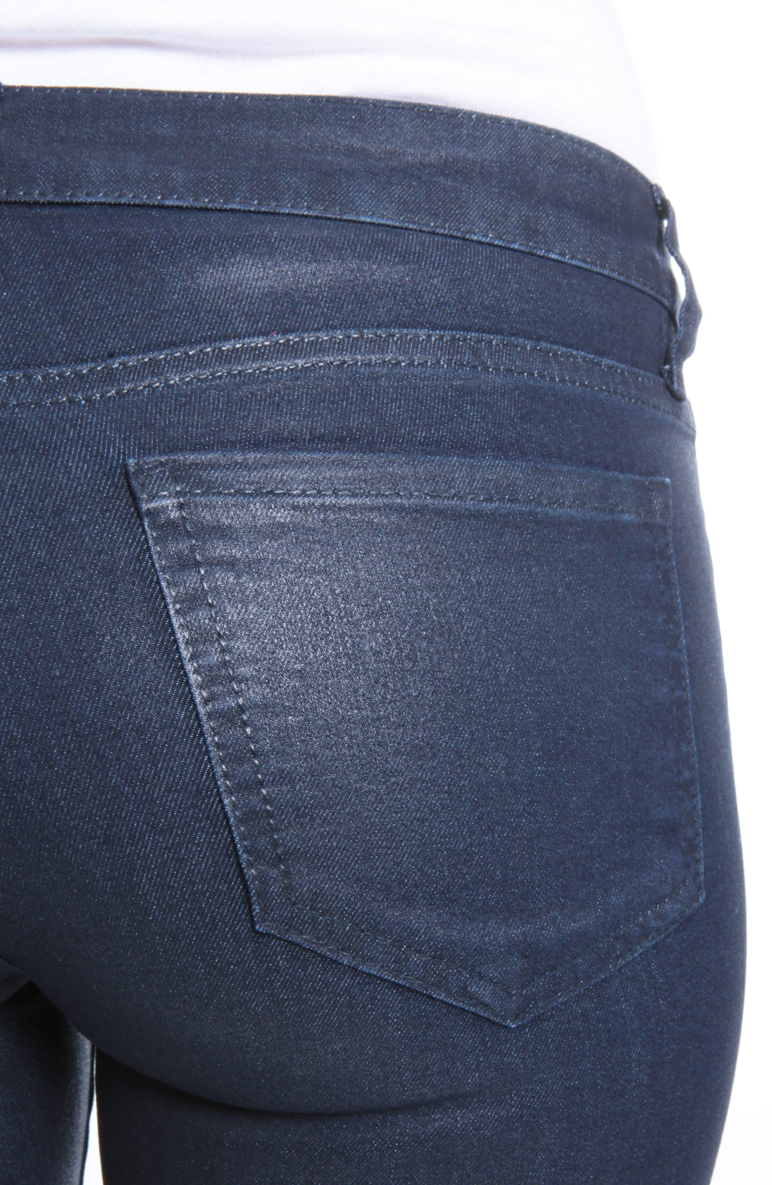 Mia Navy Coated Jeans,                             Alternate thumbnail 4, color,                             416