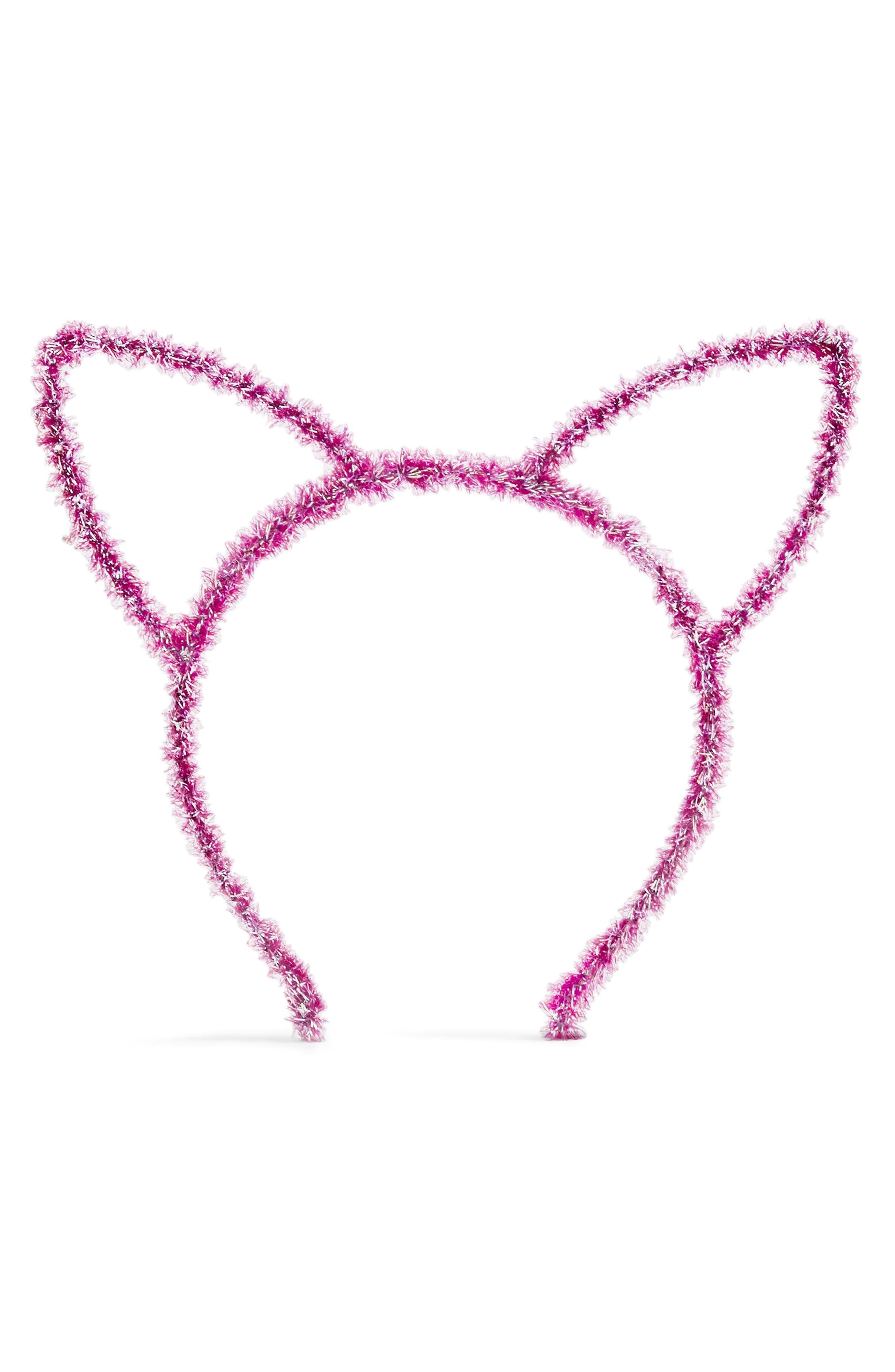 Tinsel Cat Ear Headband,                             Alternate thumbnail 2, color,                             500
