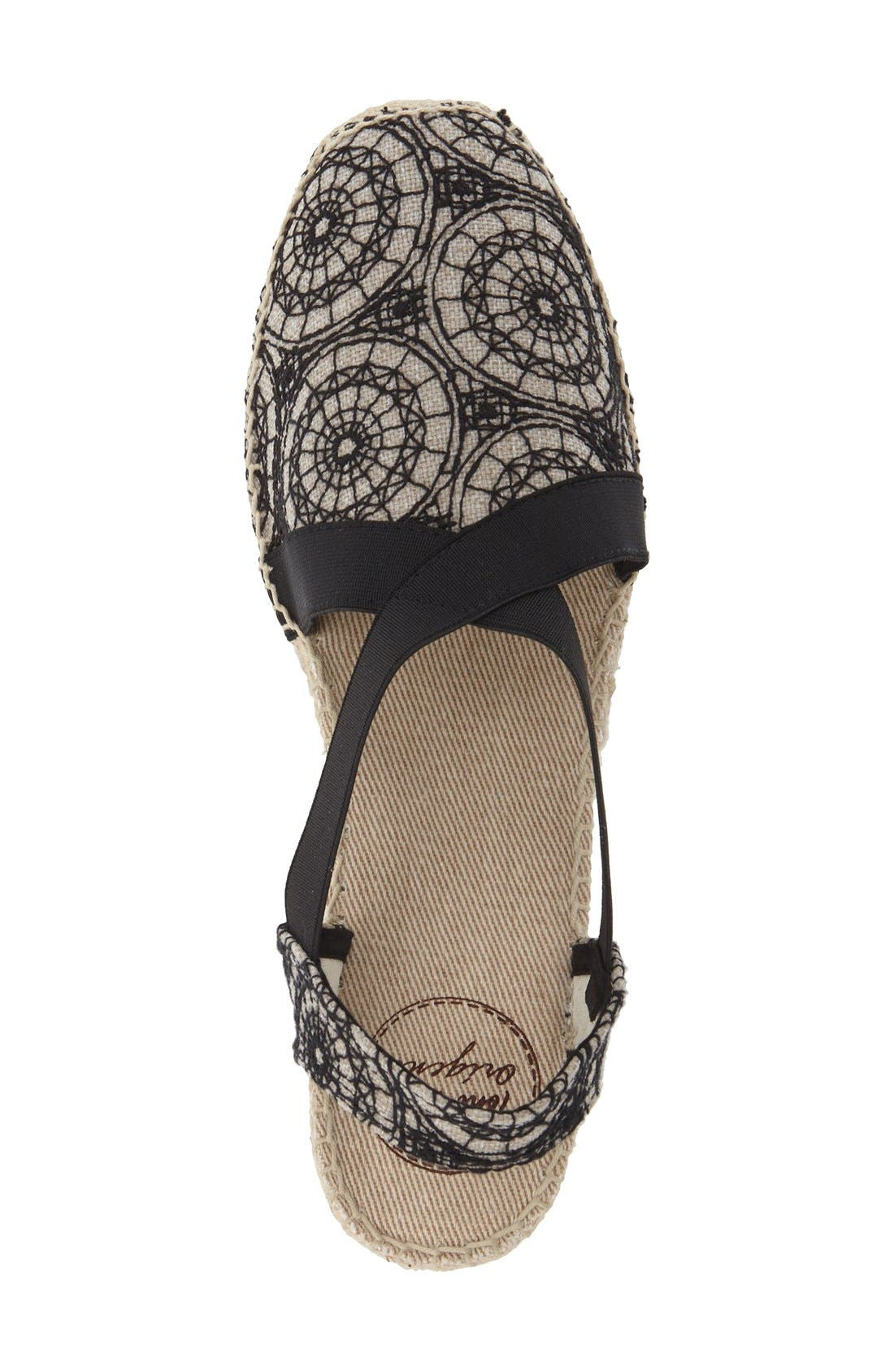 'Vera' Slingback Espadrille Sandal,                             Alternate thumbnail 3, color,                             001