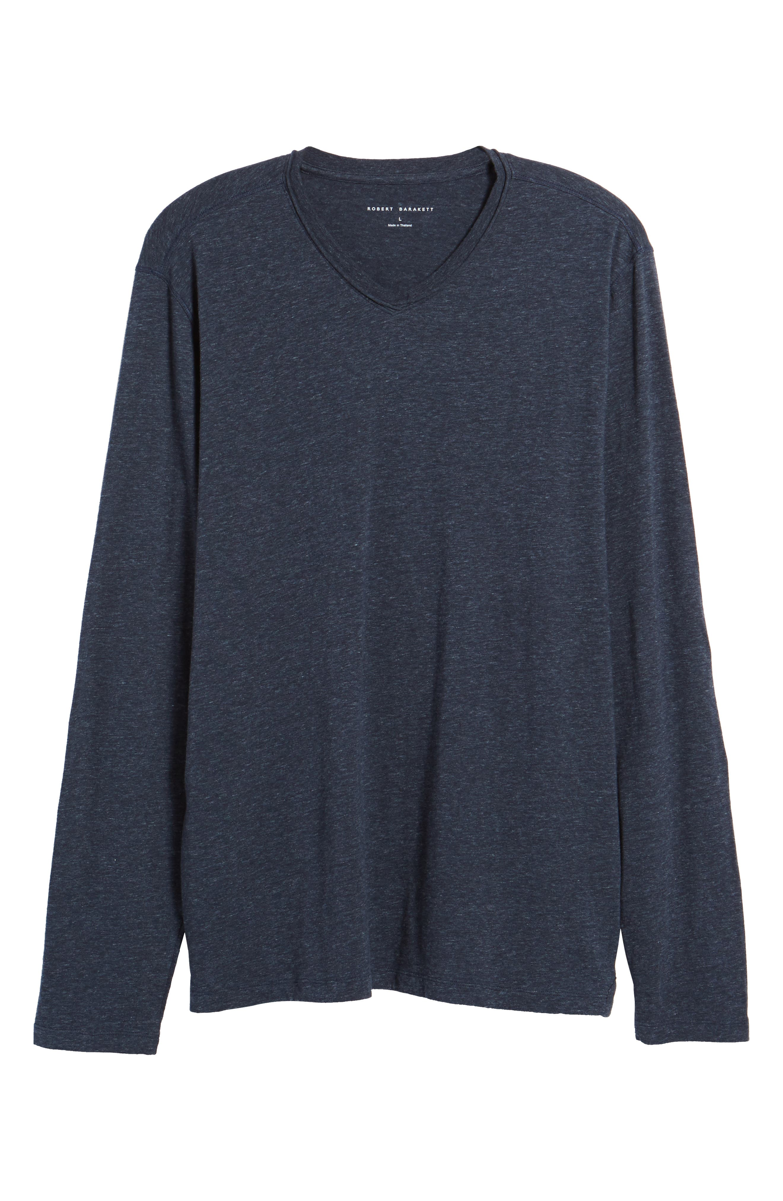 Flynn V-Neck T-Shirt,                             Alternate thumbnail 6, color,                             NAVY