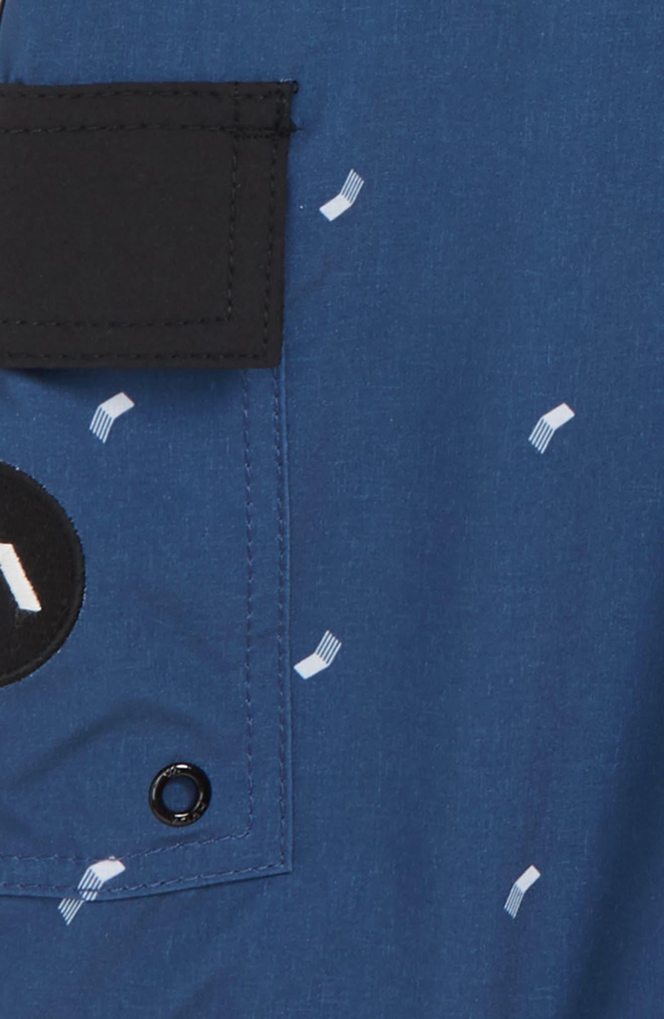 'Eastern' Scalloped Hem Board Shorts,                             Alternate thumbnail 2, color,                             SEATTLE BLUE