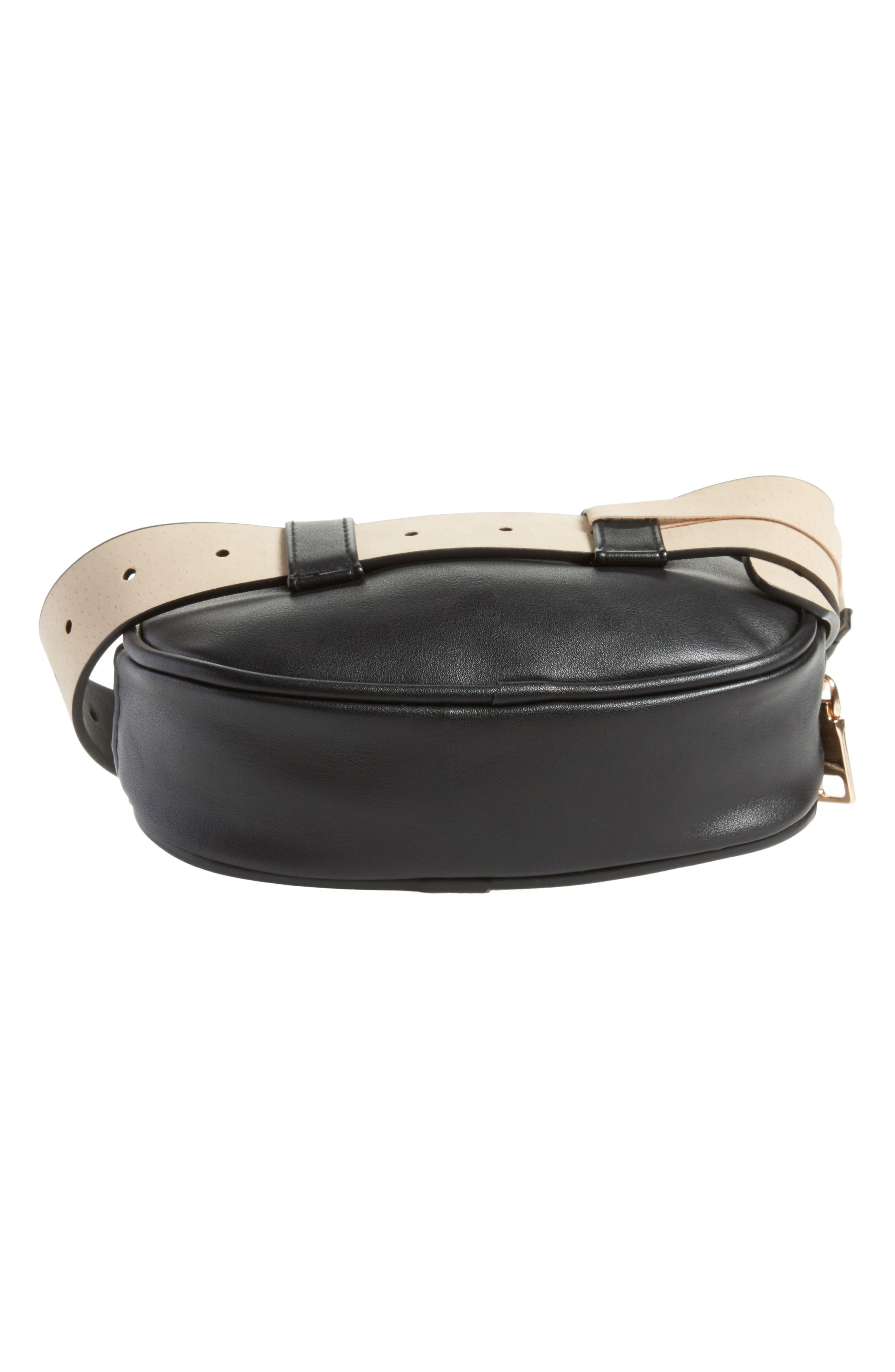 Quilted Belt Bag,                             Alternate thumbnail 6, color,                             001