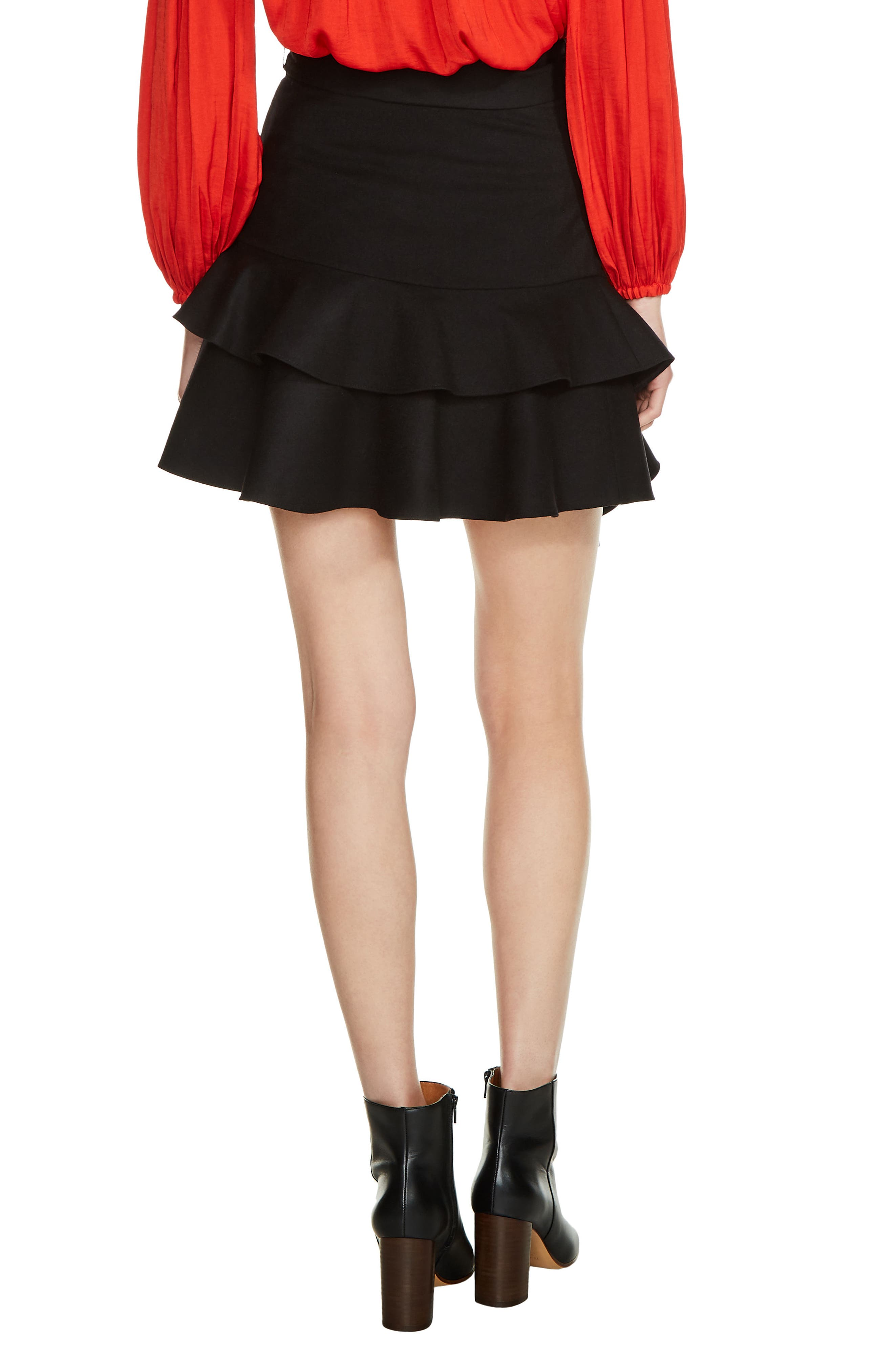 Tiered Ruffle Skirt,                             Alternate thumbnail 2, color,                             001