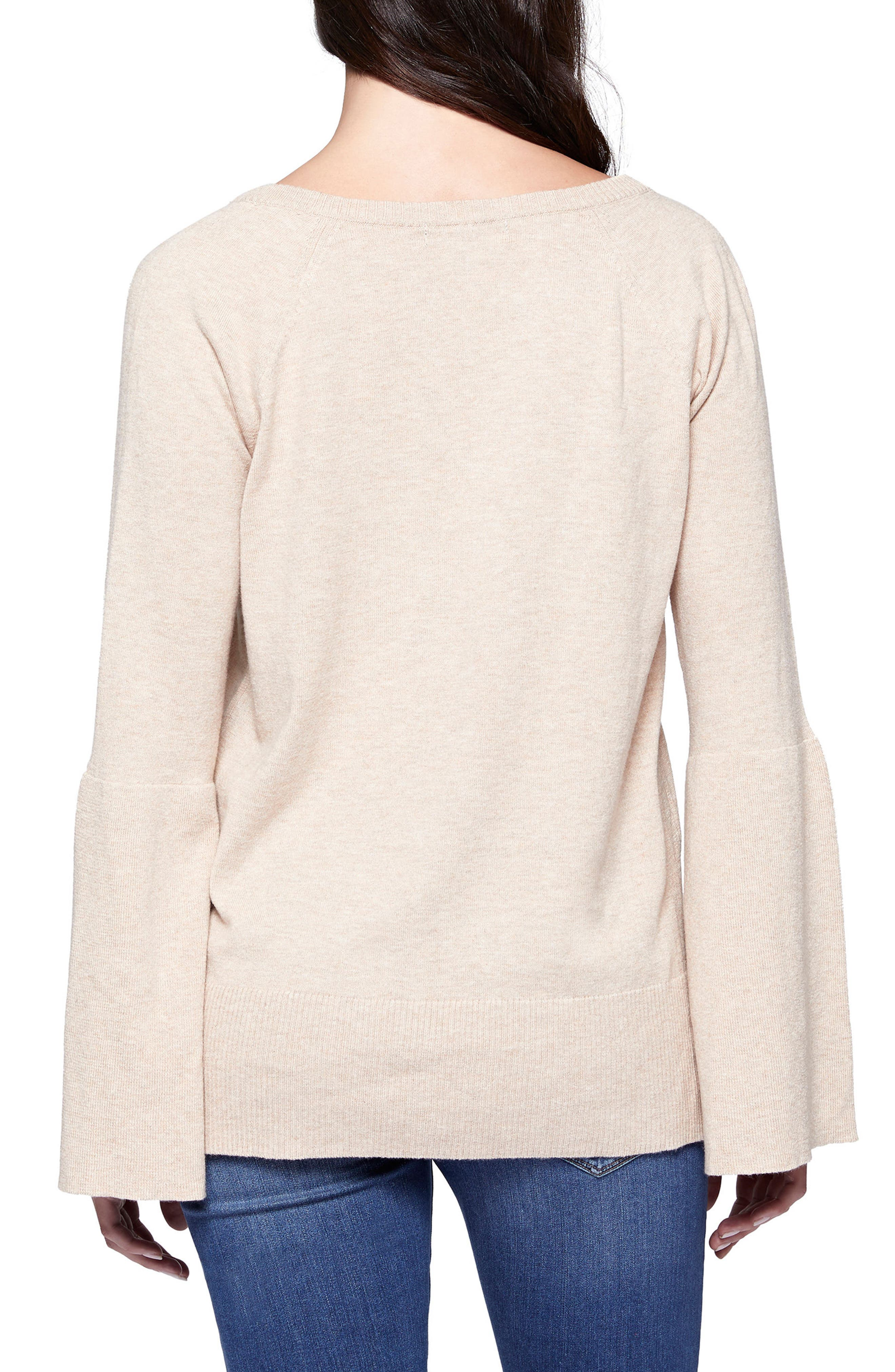 Bell Sleeve Sweater,                             Alternate thumbnail 2, color,                             253