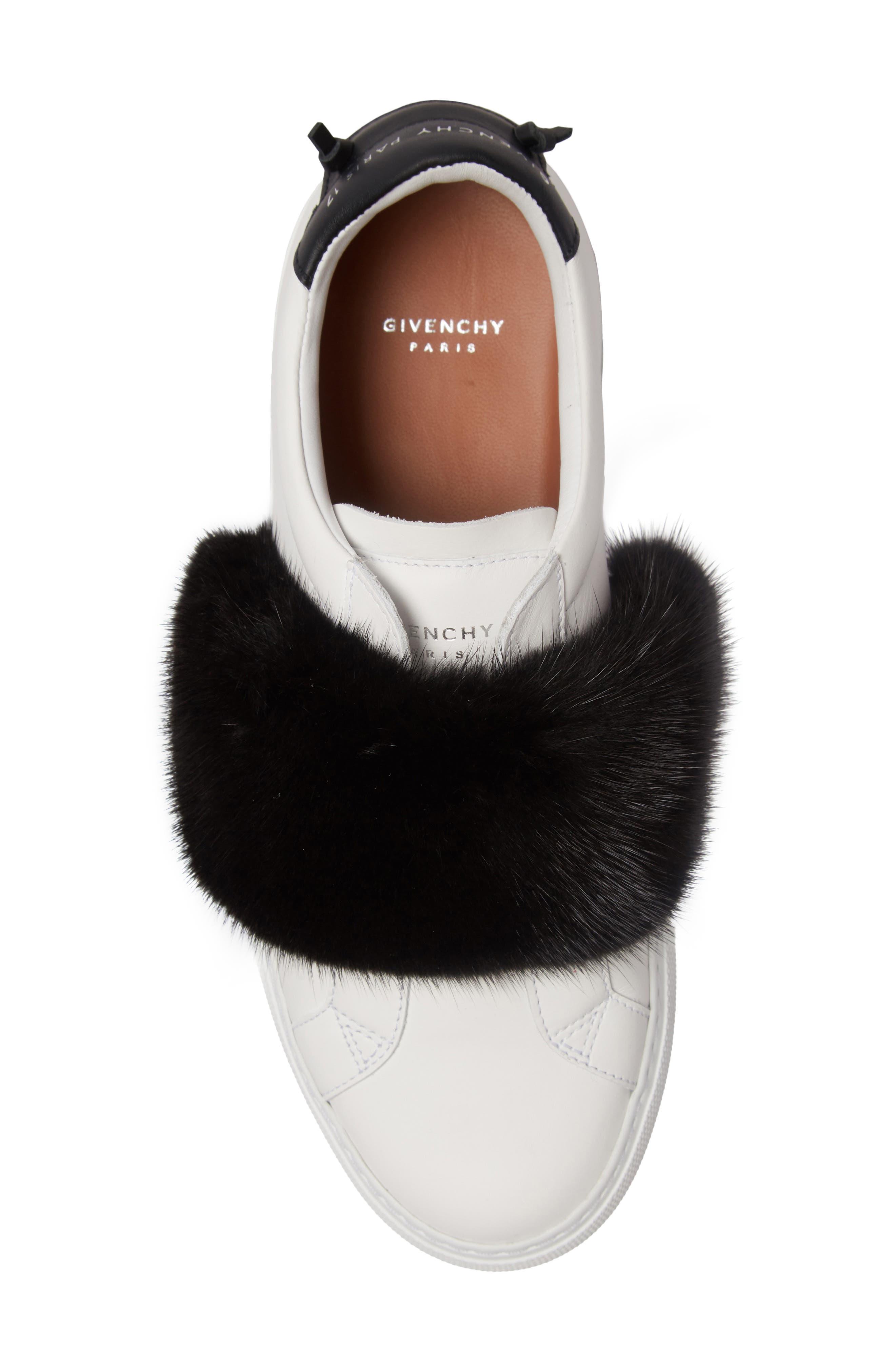 Urban Street Slip-On Sneaker with Genuine Mink Fur Trim,                             Alternate thumbnail 16, color,
