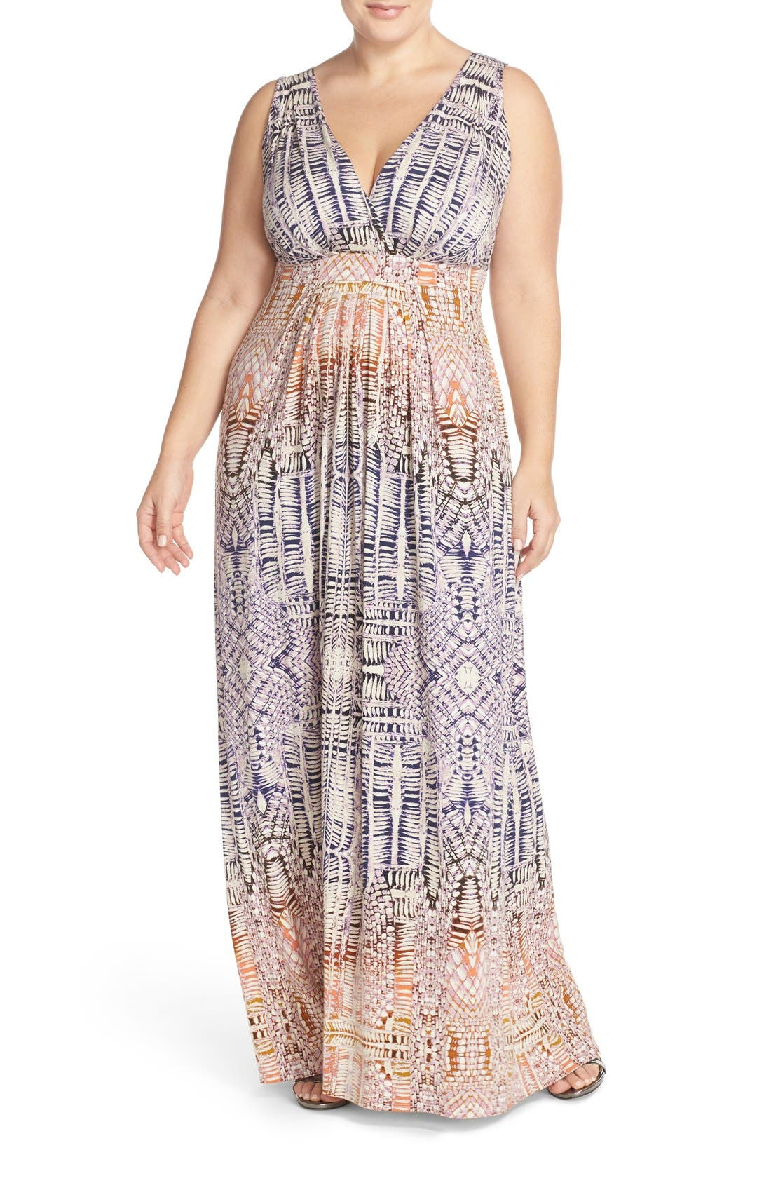 Chloe Empire Waist Maxi Dress,                             Main thumbnail 16, color,