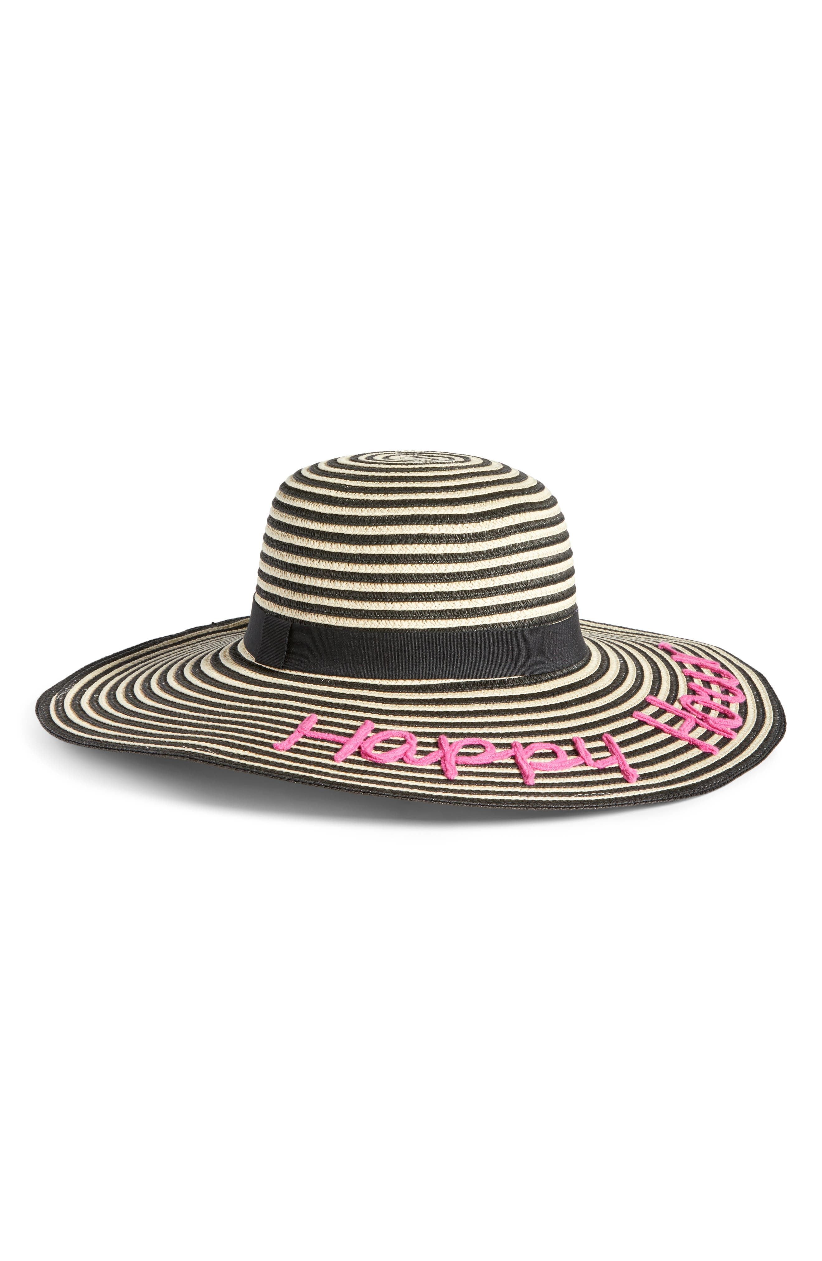 Crossword Straw Hat,                             Main thumbnail 1, color,                             010