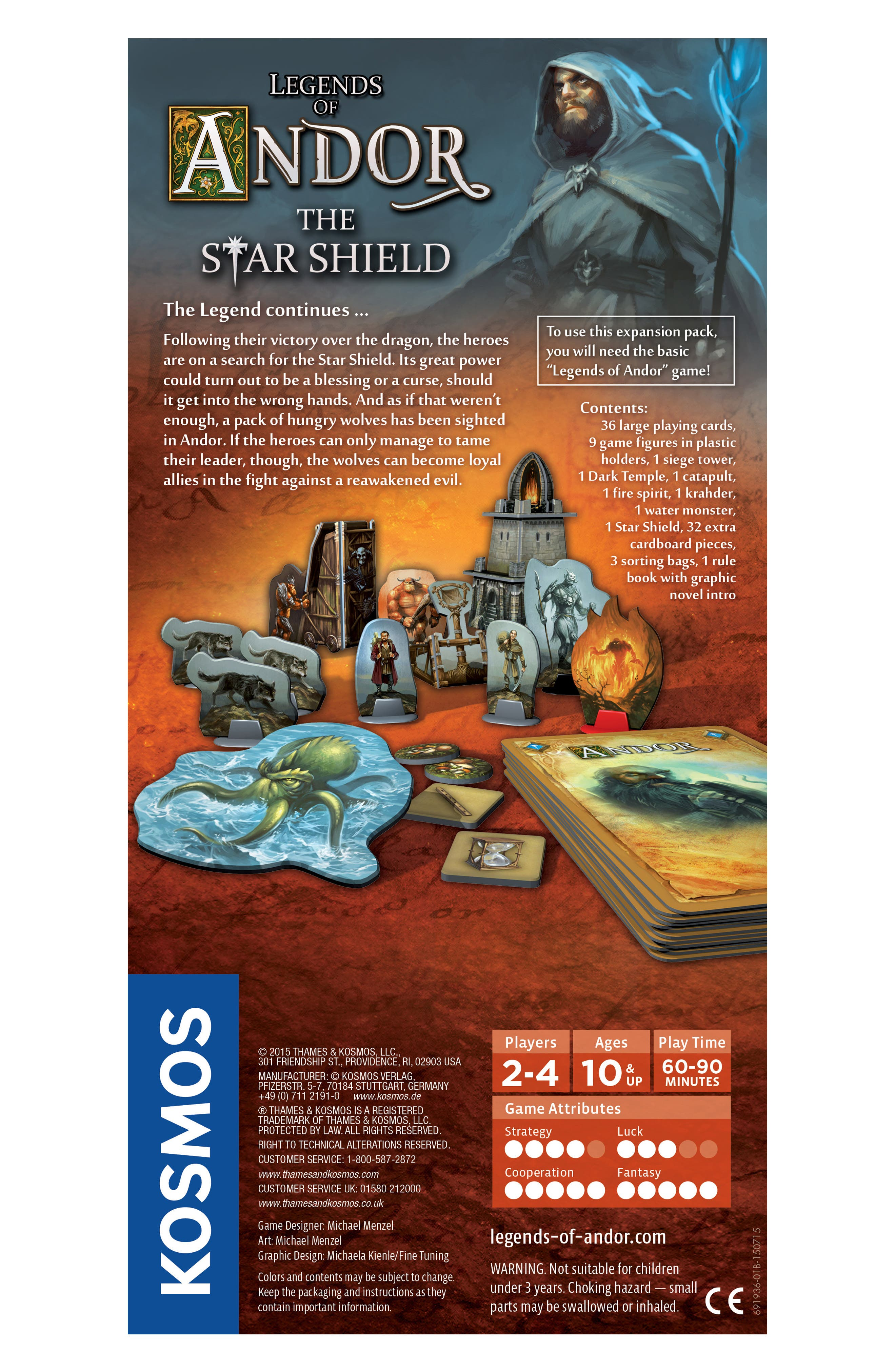 'Legends of Andor - The Star Shield' Game Expansion Pack,                             Alternate thumbnail 3, color,                             BROWN
