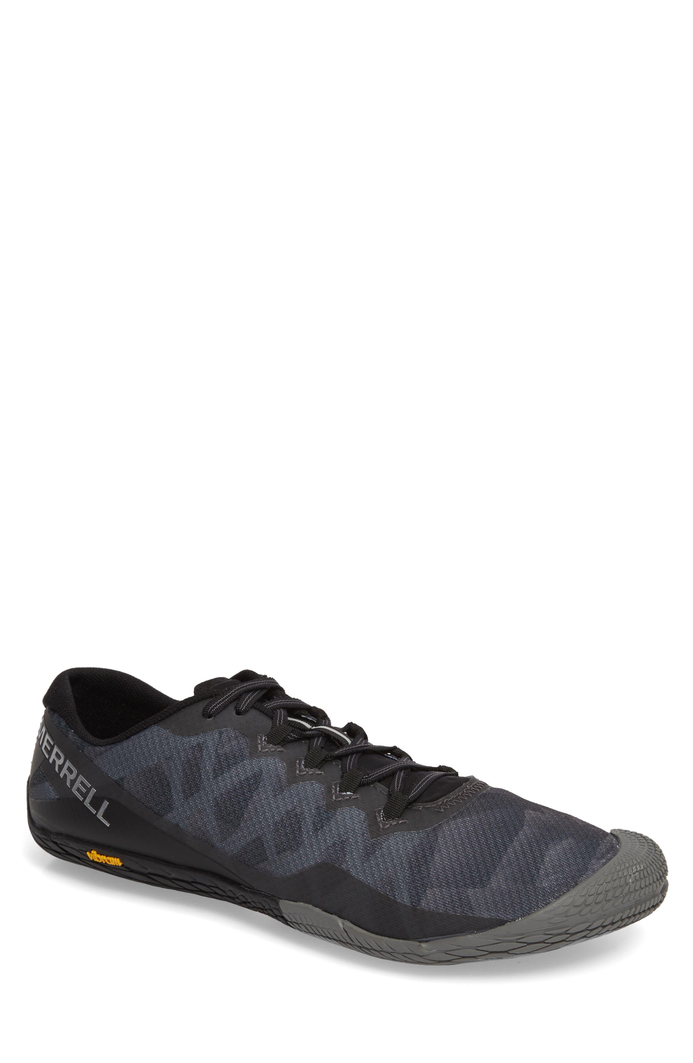 Vapor Glove 3 Trail Running Shoe,                         Main,                         color, BLACK/ SILVER