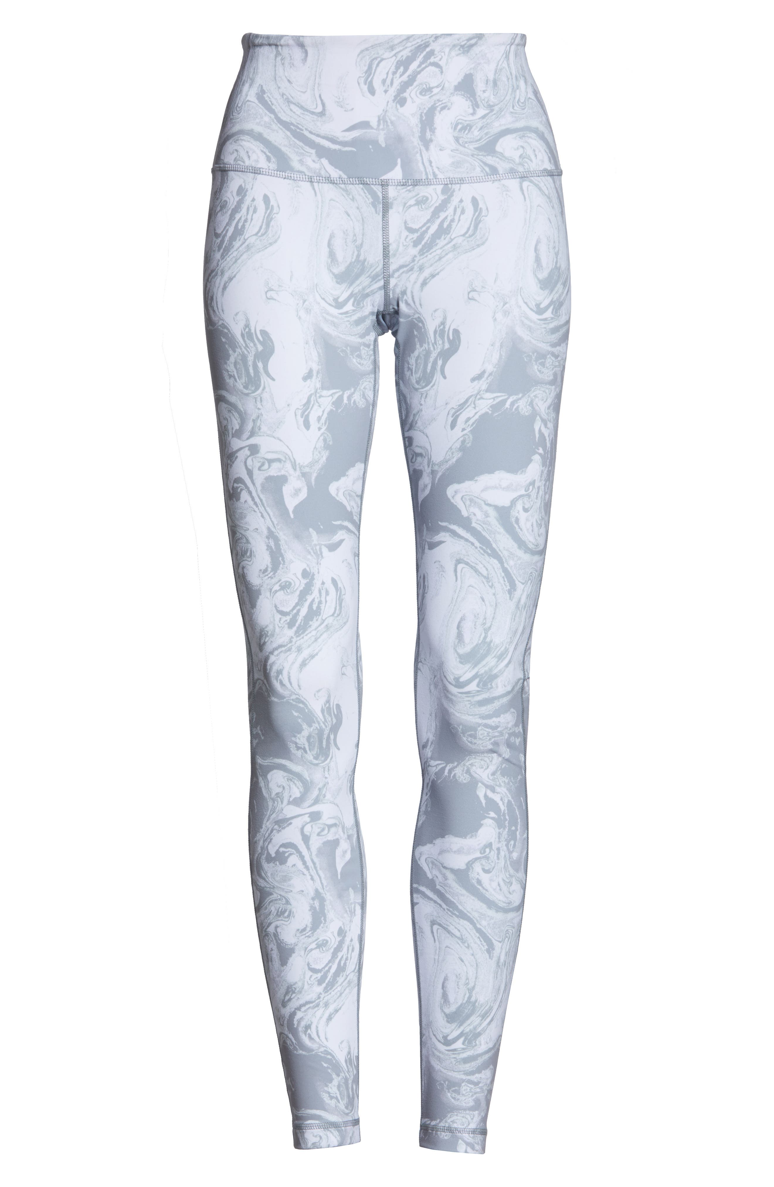 Live In High Waist Leggings,                             Alternate thumbnail 7, color,                             GREY SCONCE PRETTY MARBLE