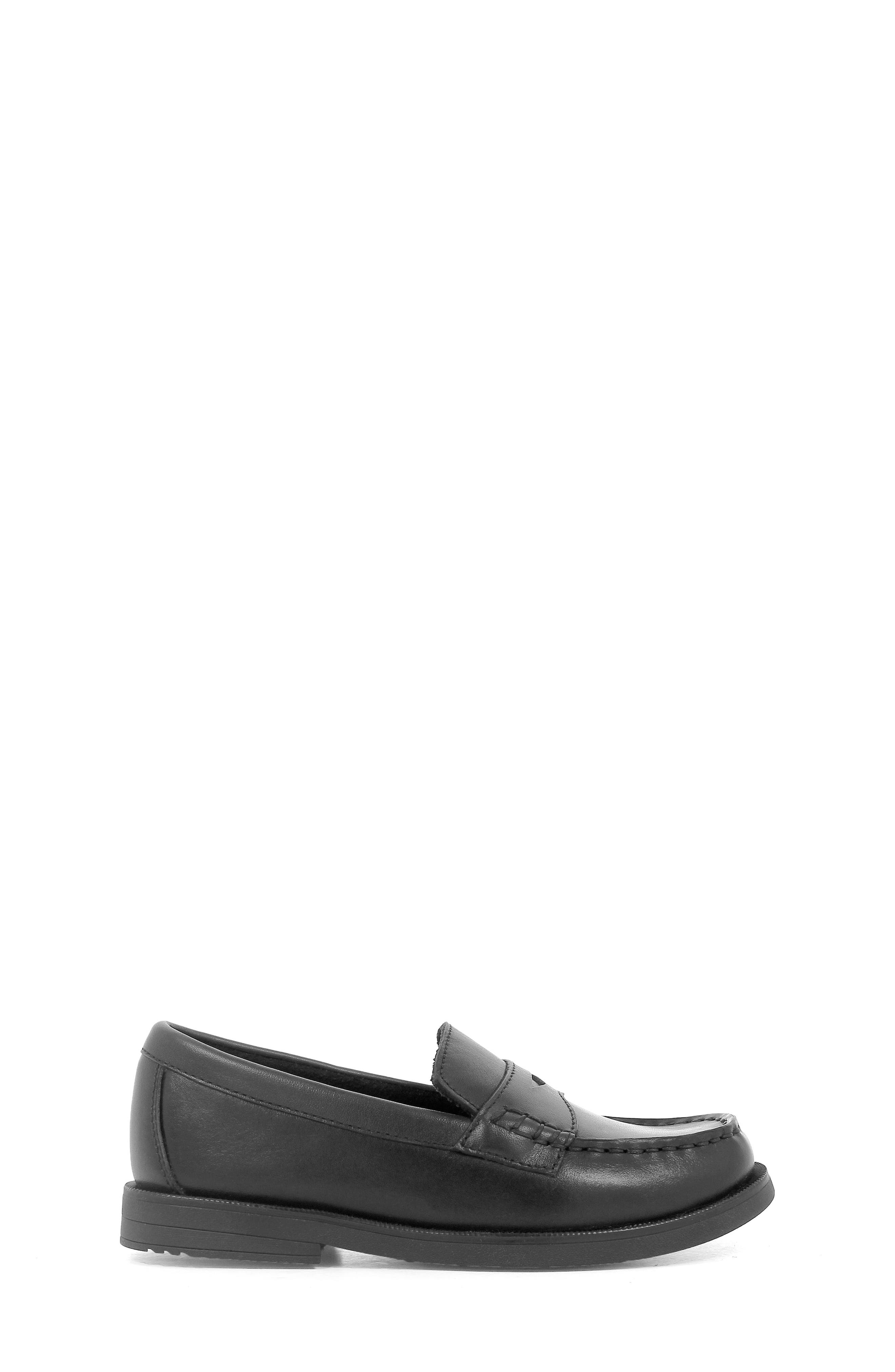 'Croquet' Penny Loafer,                             Alternate thumbnail 4, color,                             BLACK