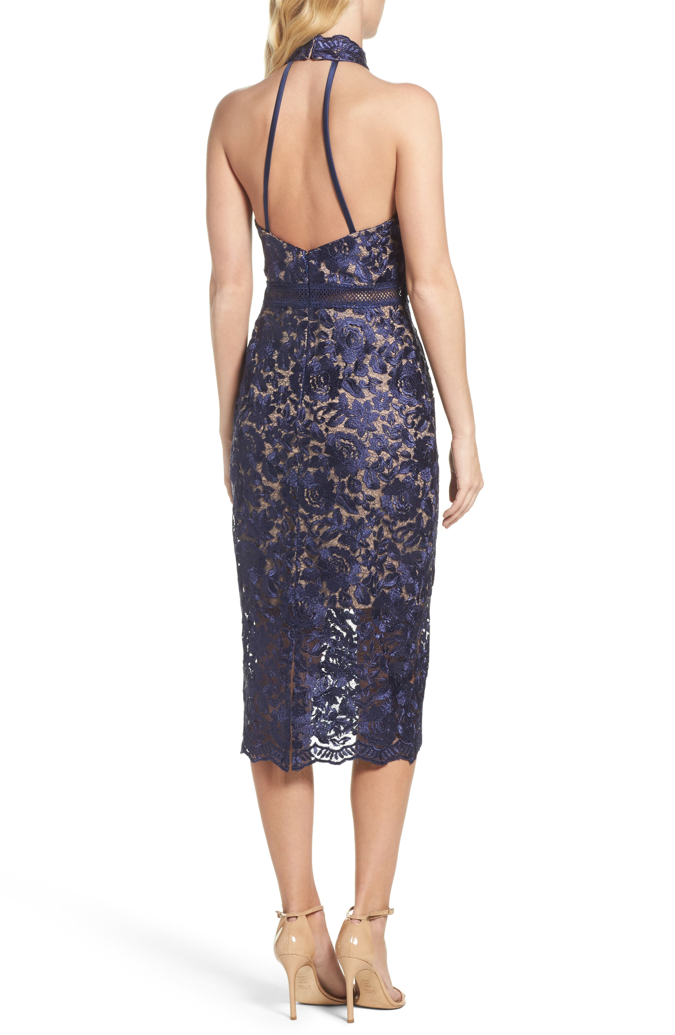 Illusion Lace Sheath Dress,                             Alternate thumbnail 2, color,                             001