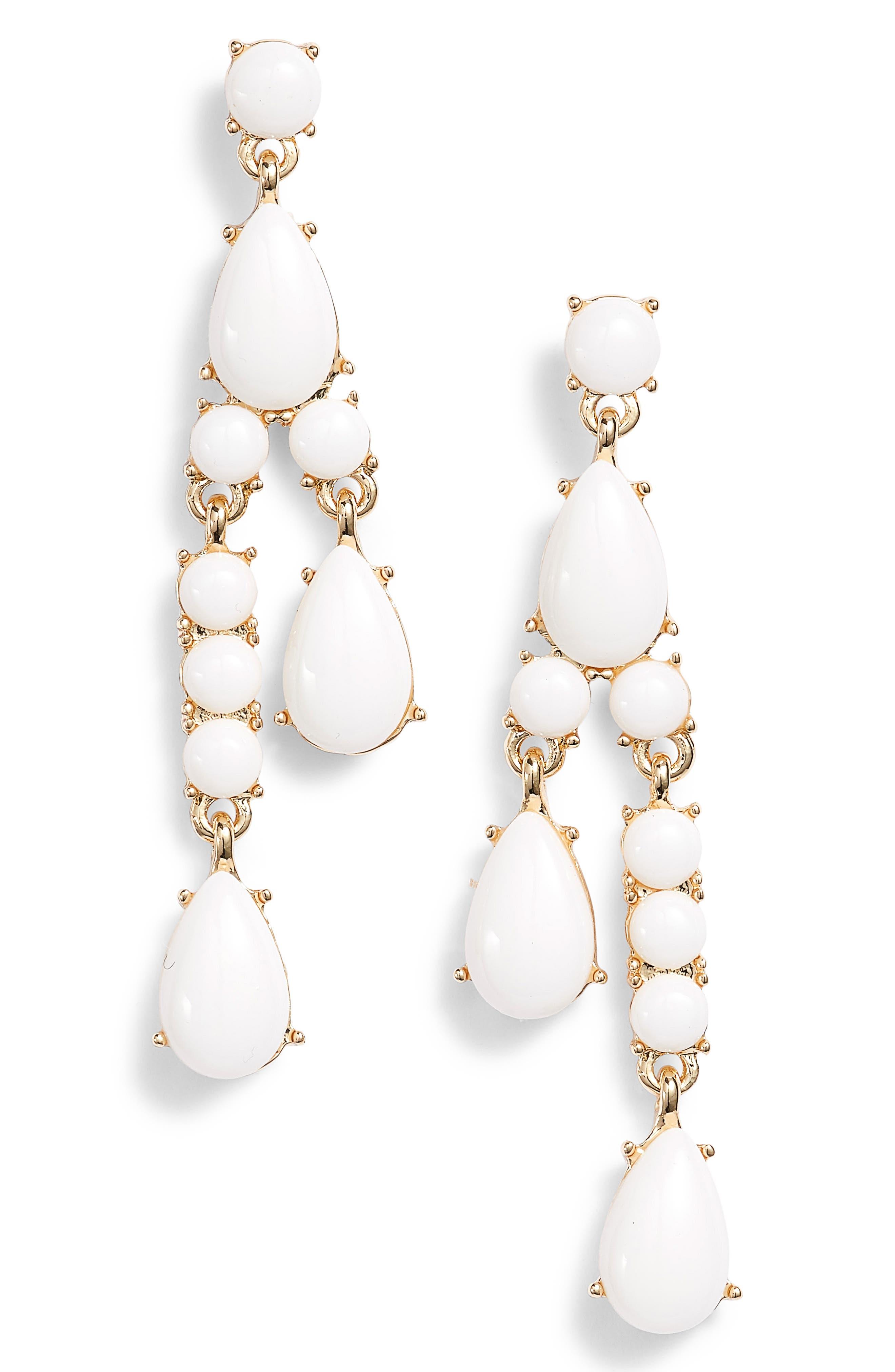 Resin Stone Linear Earrings,                             Main thumbnail 1, color,                             100