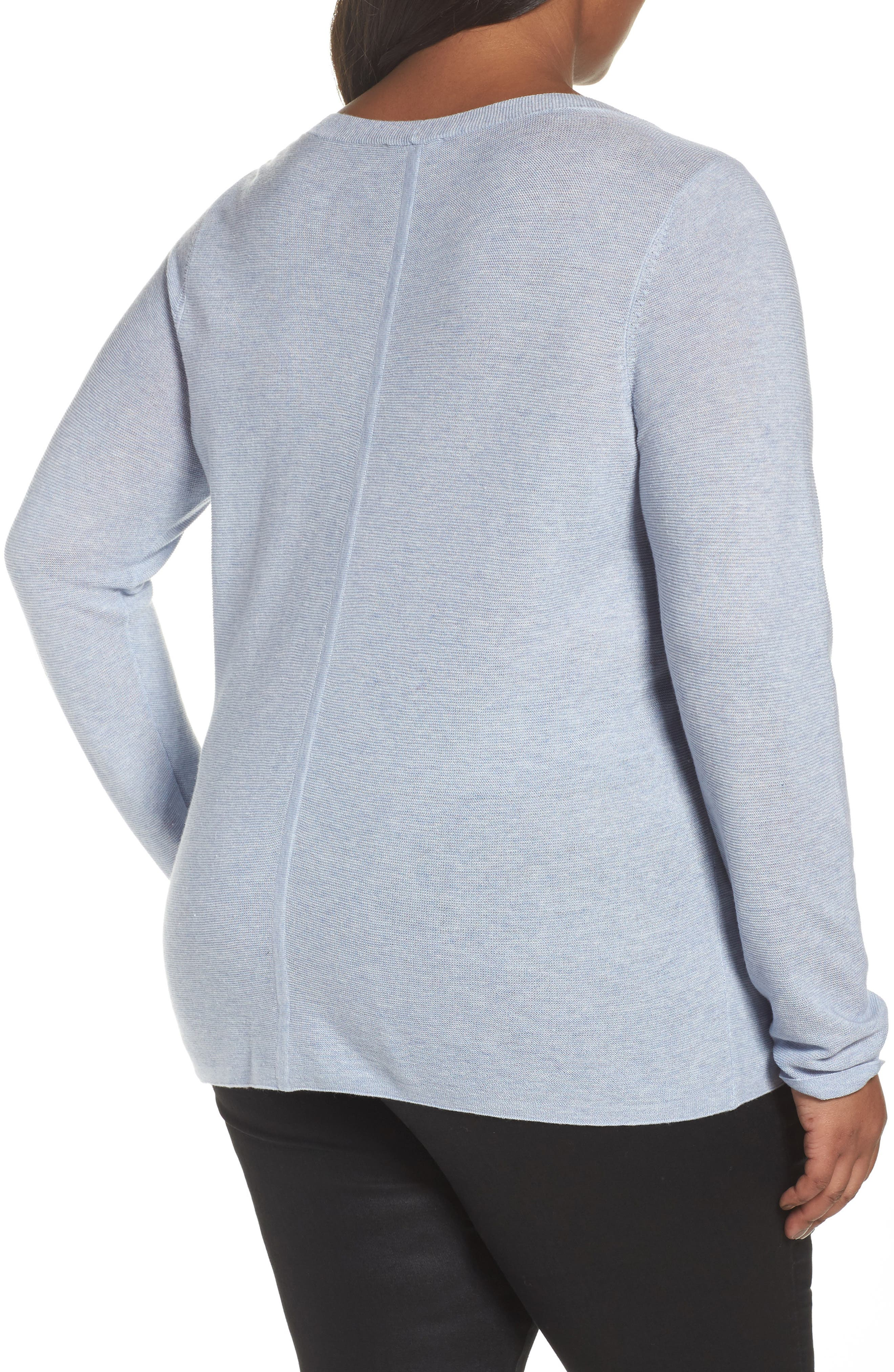 V-Neck Sweater,                             Alternate thumbnail 8, color,
