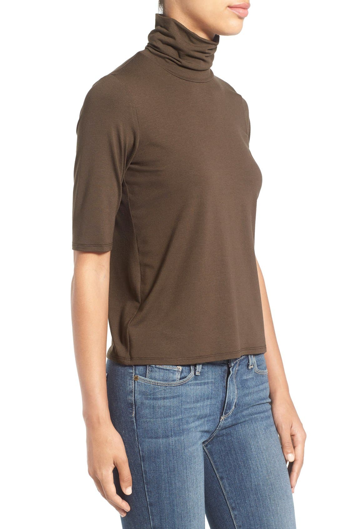 Scrunch Neck Jersey Top,                             Alternate thumbnail 7, color,