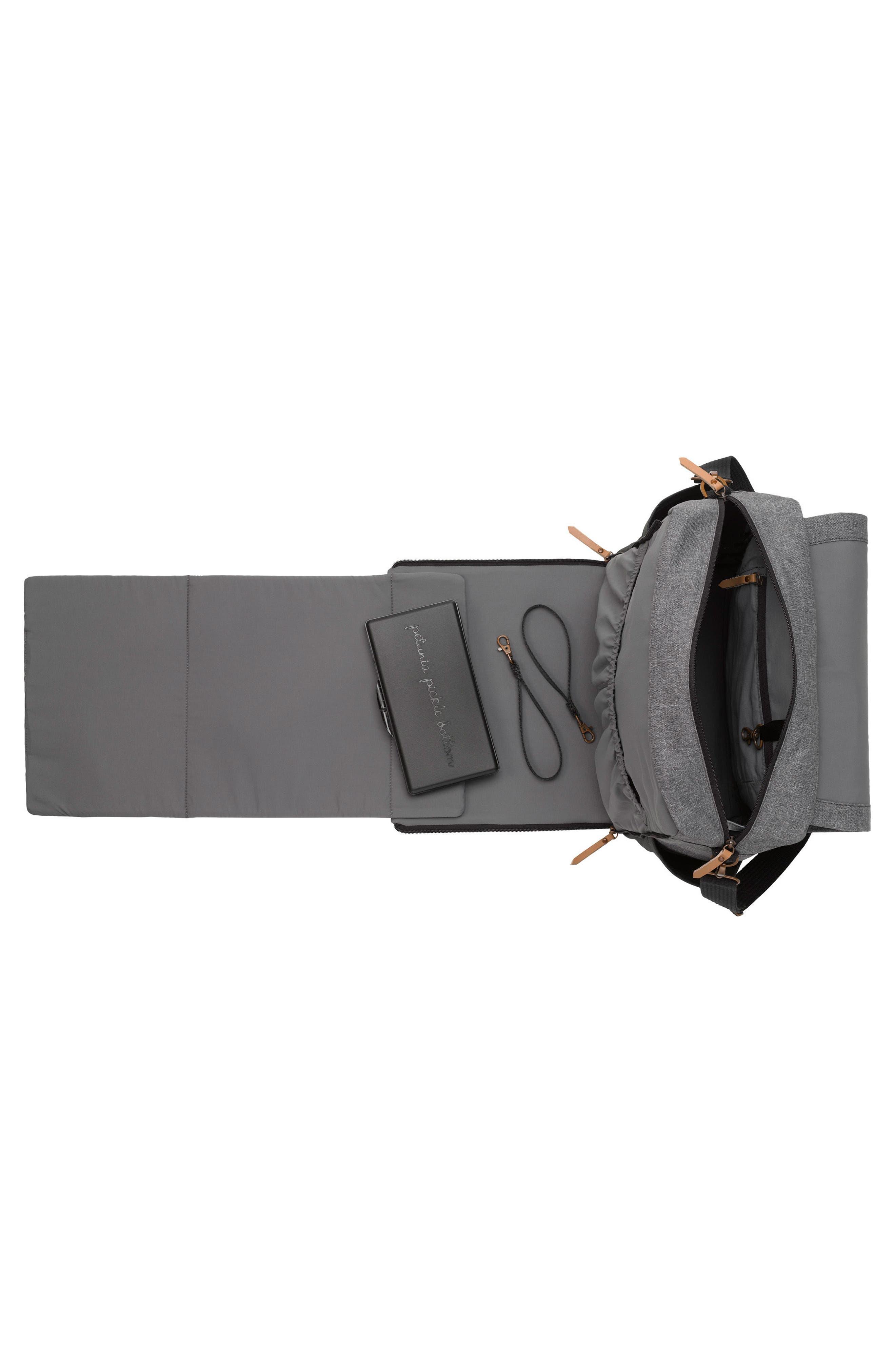 Boxy Backpack Diaper Bag,                             Alternate thumbnail 3, color,                             GRAPHITE/ BLACK