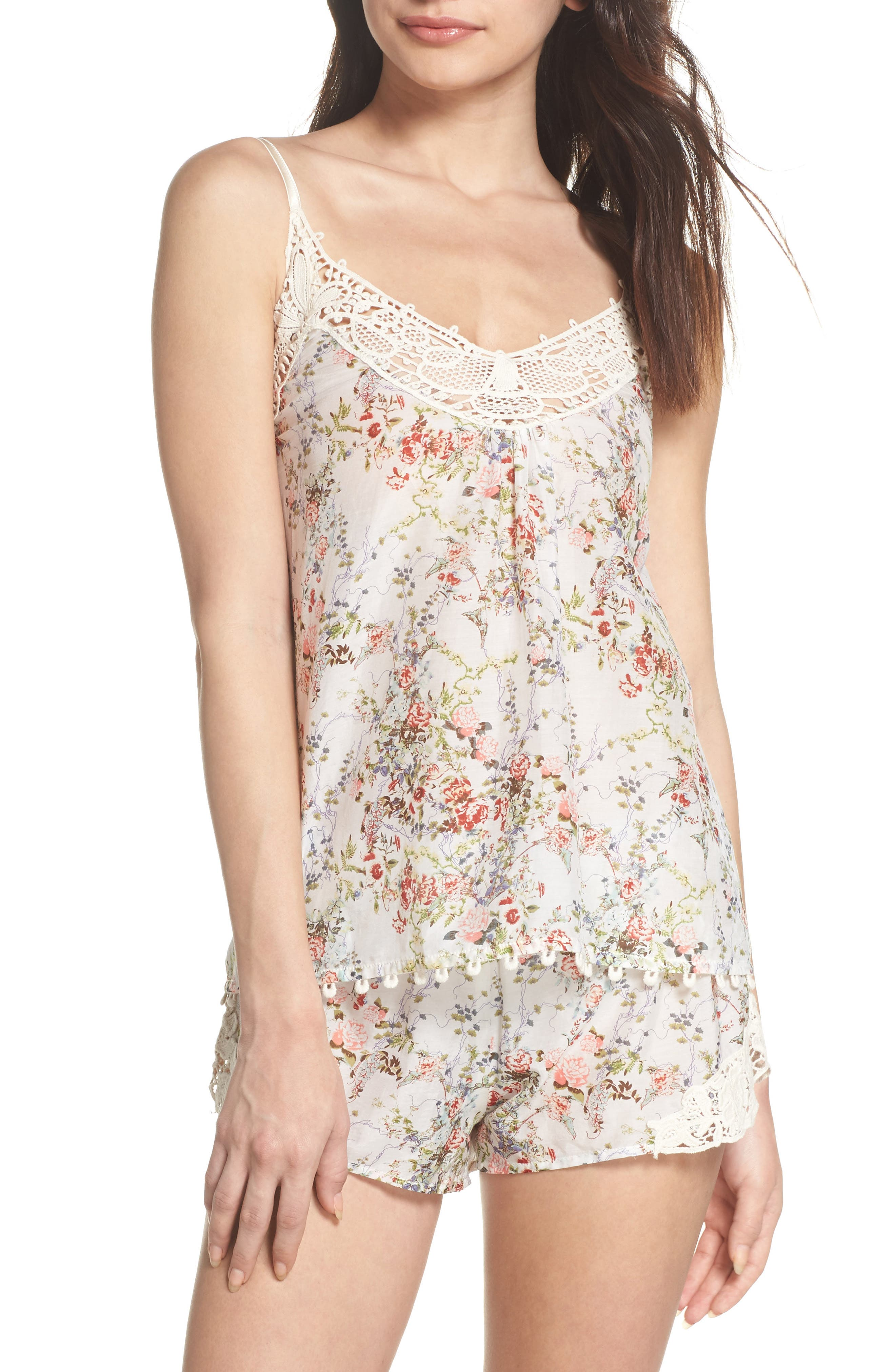 Yolly Camisole,                         Main,                         color, IVORY FLORAL
