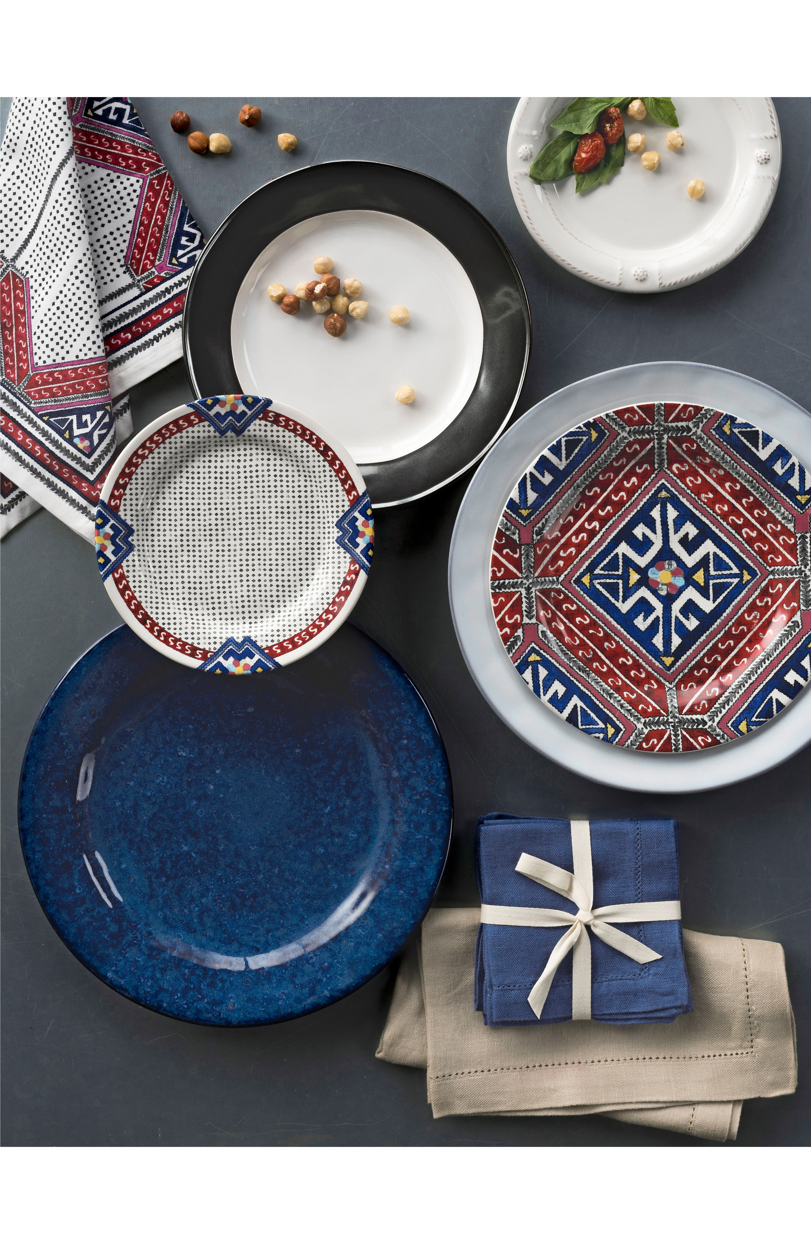 Puro Cobalt Ceramic Dinner Plate,                             Alternate thumbnail 2, color,                             DAPPLED COBALT