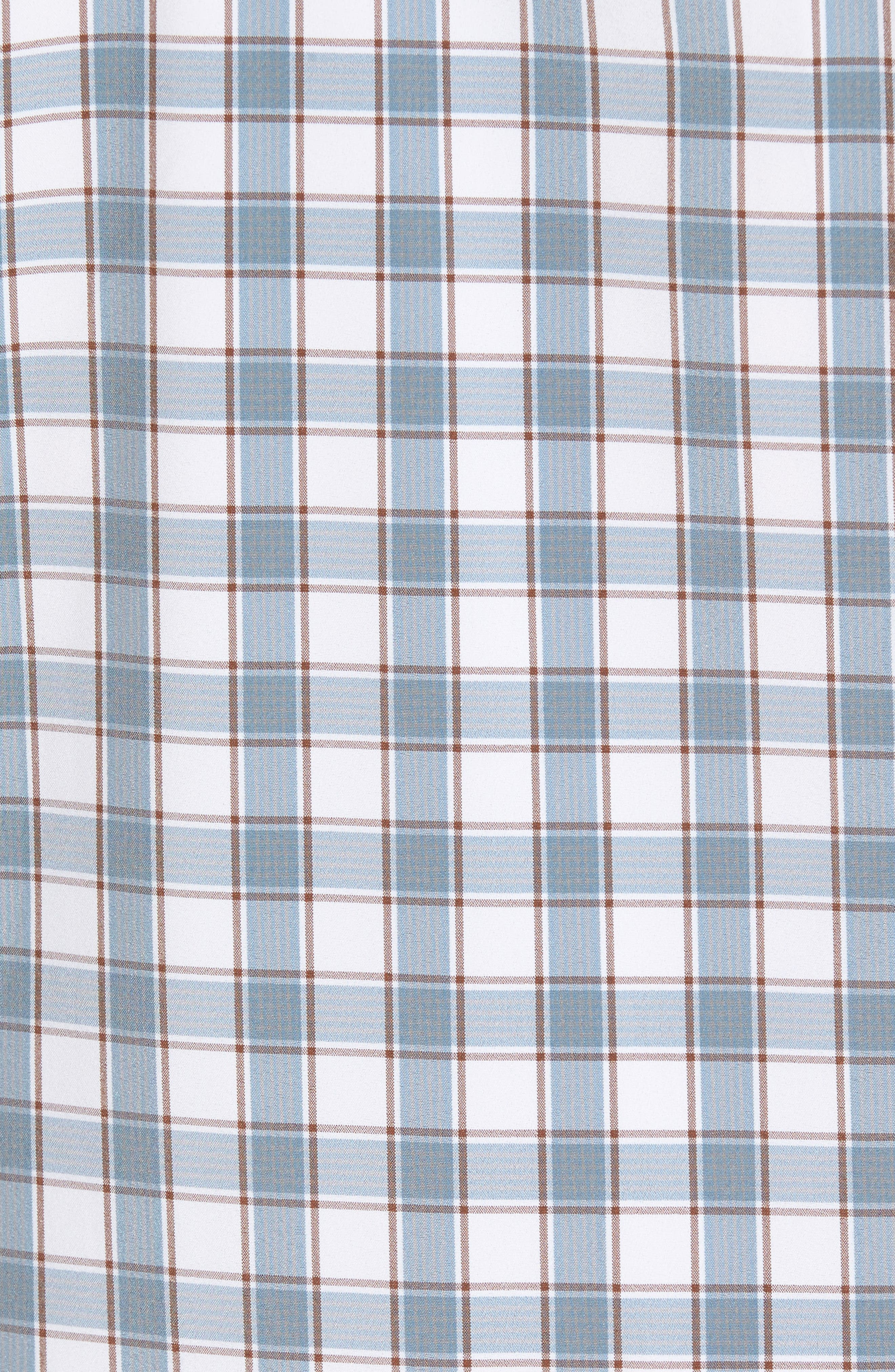 Covington Blue Shadow & Toffee Check Sport Shirt,                             Alternate thumbnail 5, color,                             400