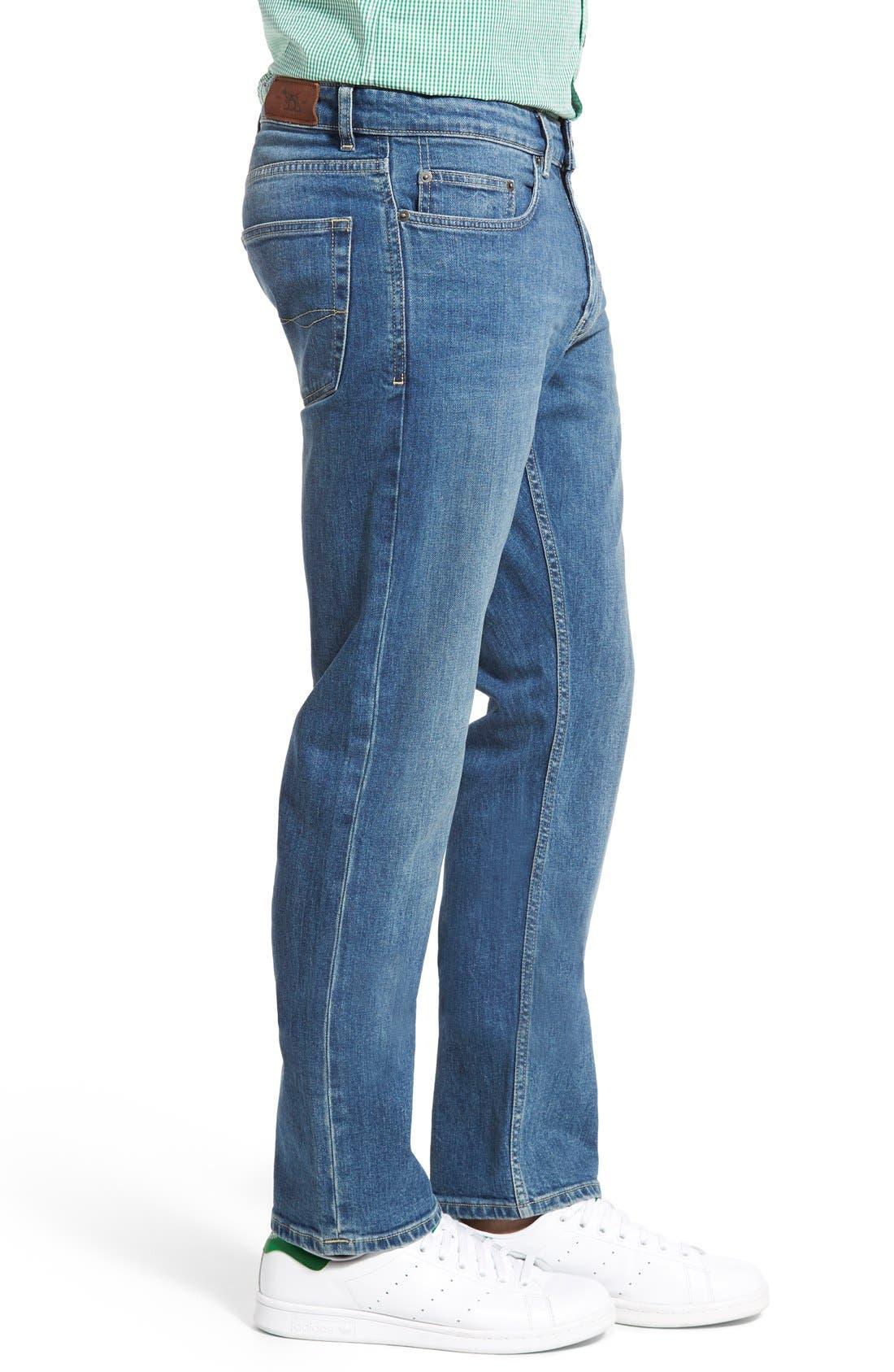 'Nicholls' Regular Fit Straight Leg Jeans,                             Alternate thumbnail 6, color,                             DENIM