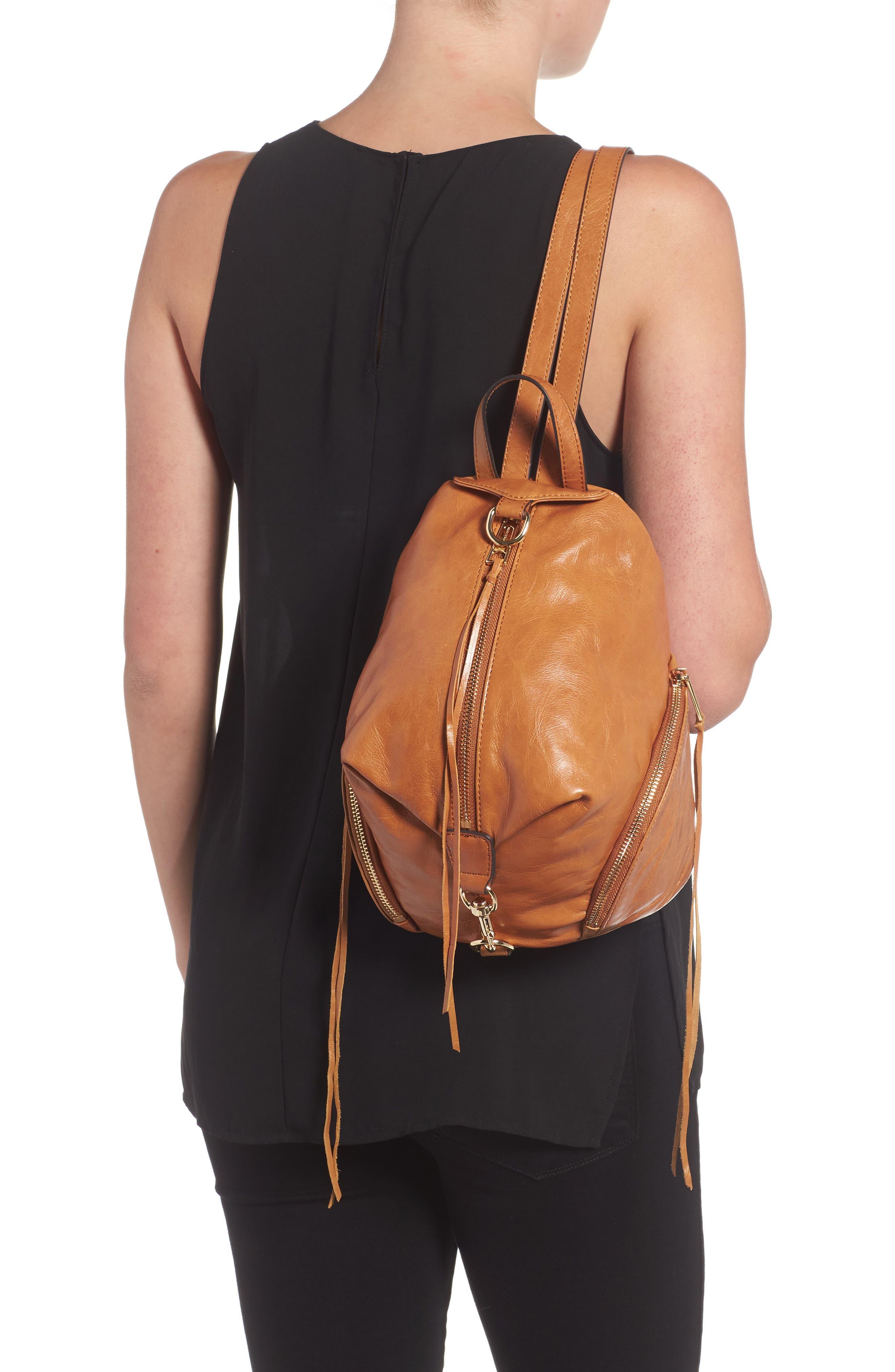 Medium Julian Leather Backpack,                             Alternate thumbnail 8, color,