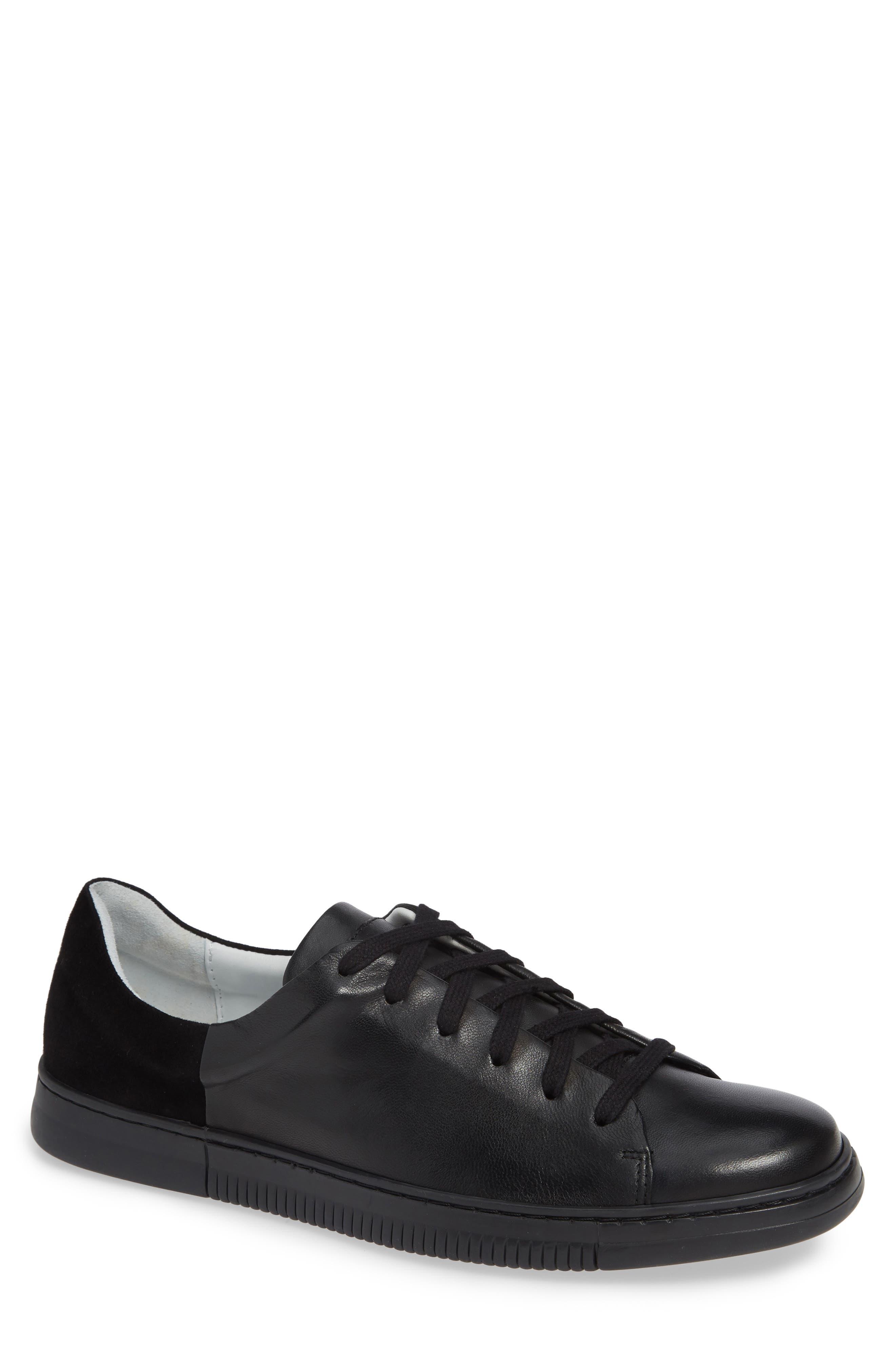 VINCE CAMUTO Jito Sneaker, Main, color, BLACK LEATHER
