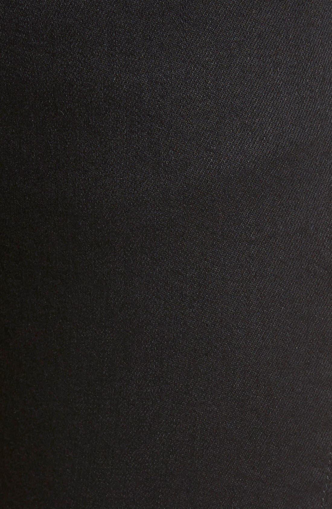 ZZDNUHUGO BOSS,                             HUGO '734/24' Skinny Fit Moto Jeans,                             Alternate thumbnail 5, color,                             001