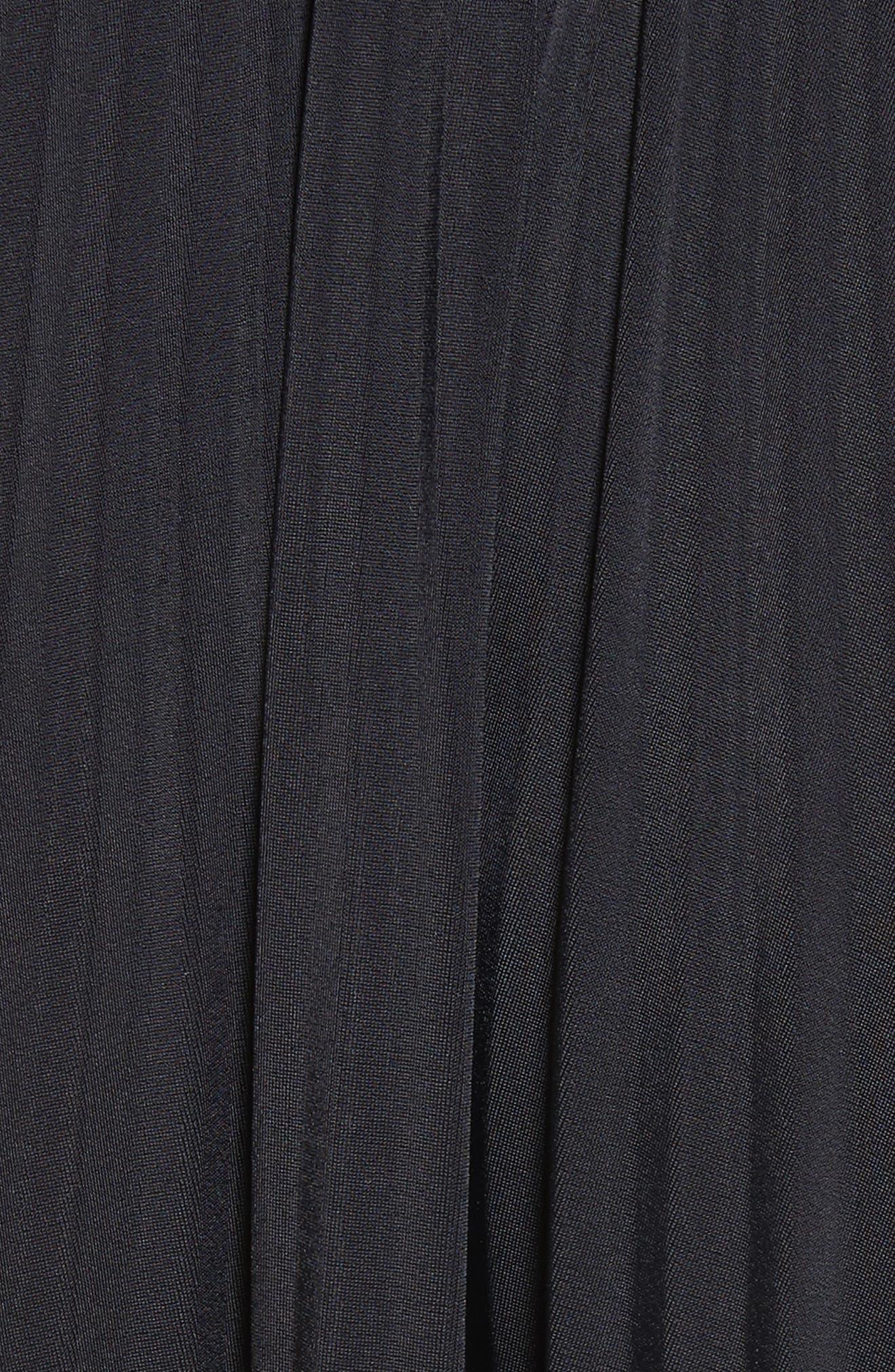Bicolor Jersey & Lace Plissé Skirt,                             Alternate thumbnail 5, color,                             001