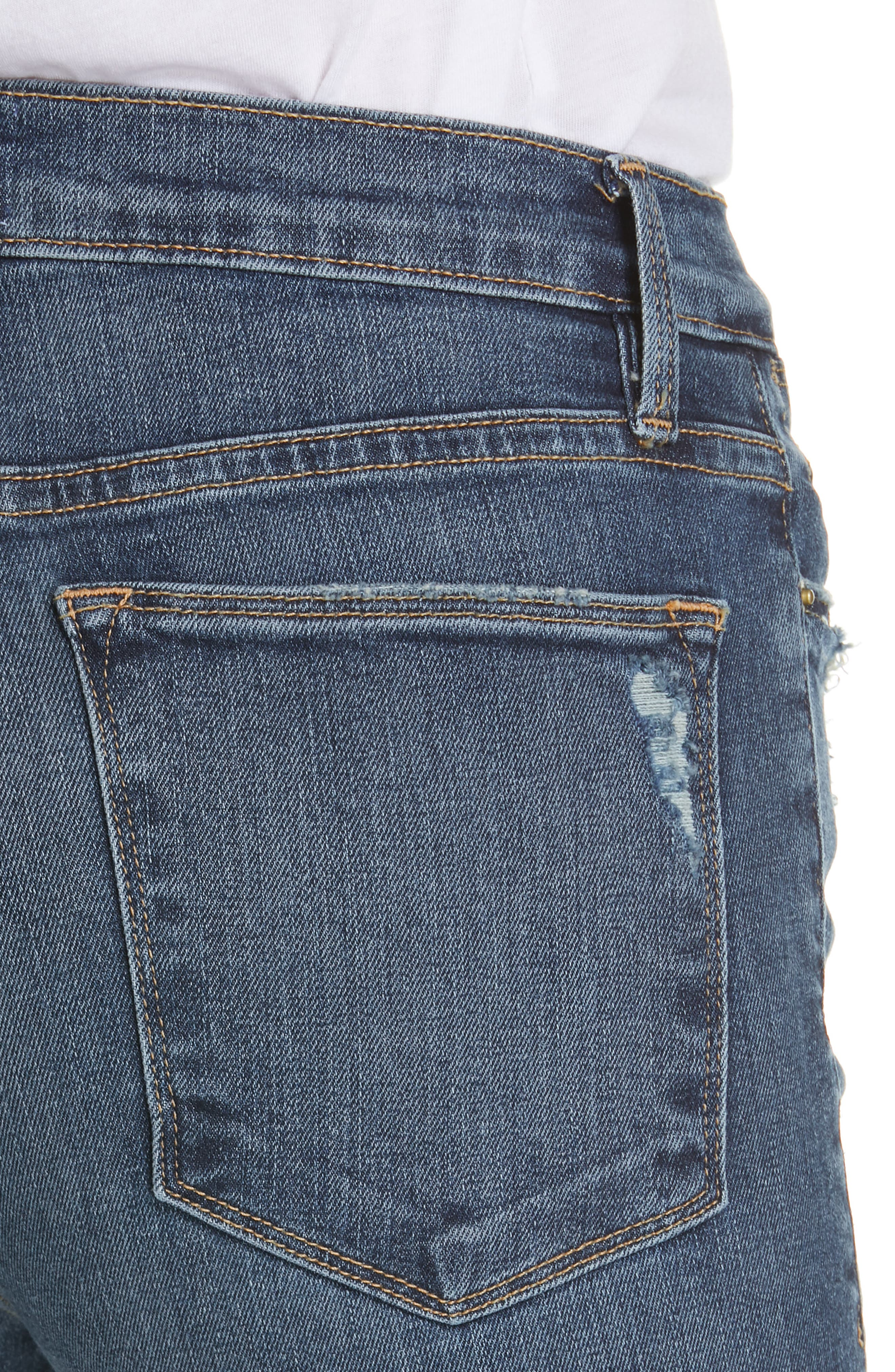 FRAME,                             Le High Straight Curve Hem Jeans,                             Alternate thumbnail 5, color,                             RUE