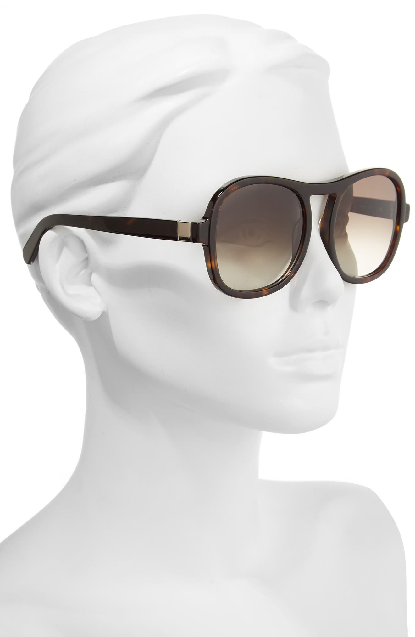 Marlow 56mm Gradient Lens Sunglasses,                             Alternate thumbnail 7, color,