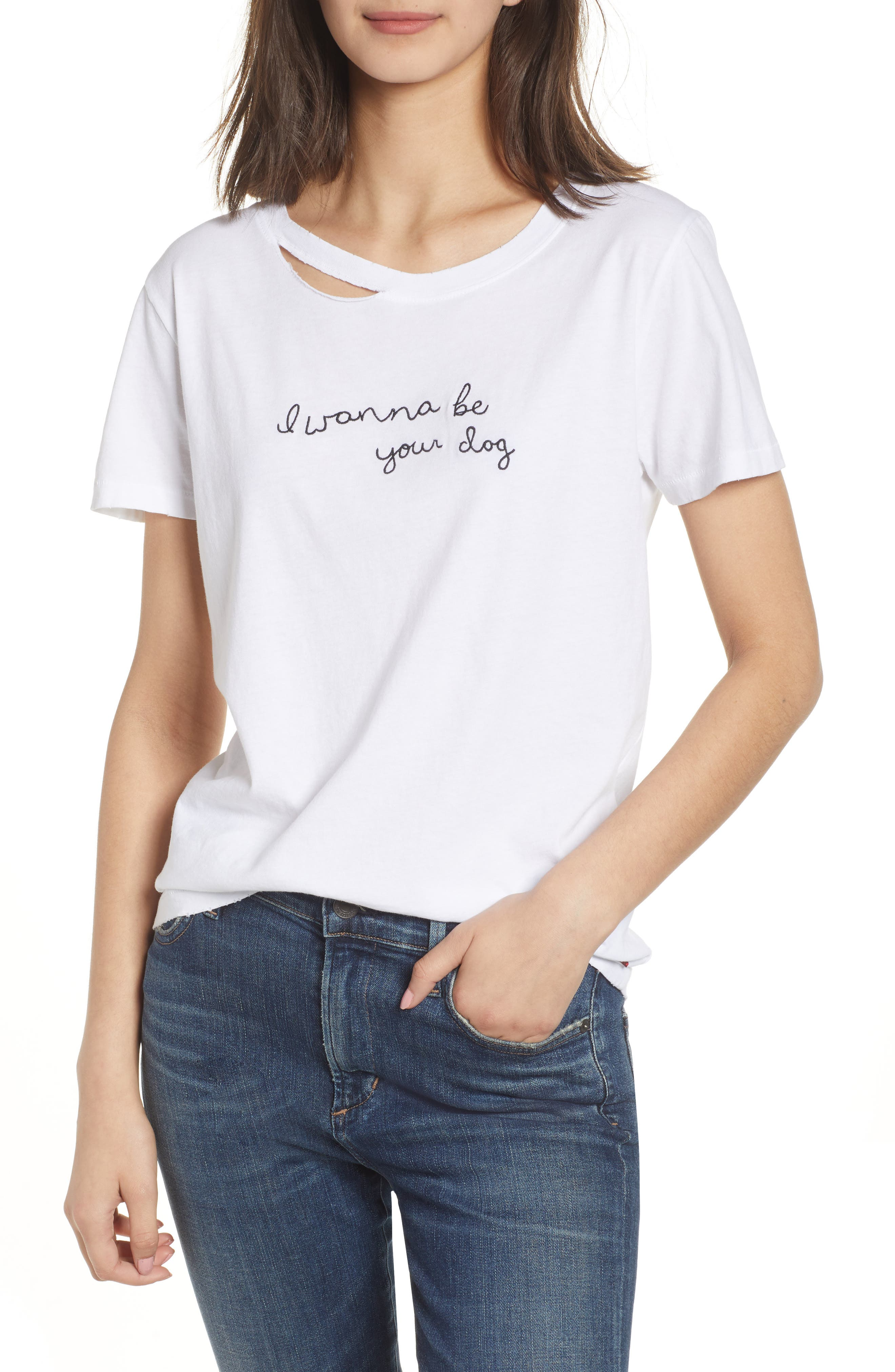 Harlow Embroidered Tee,                         Main,                         color, WHITE