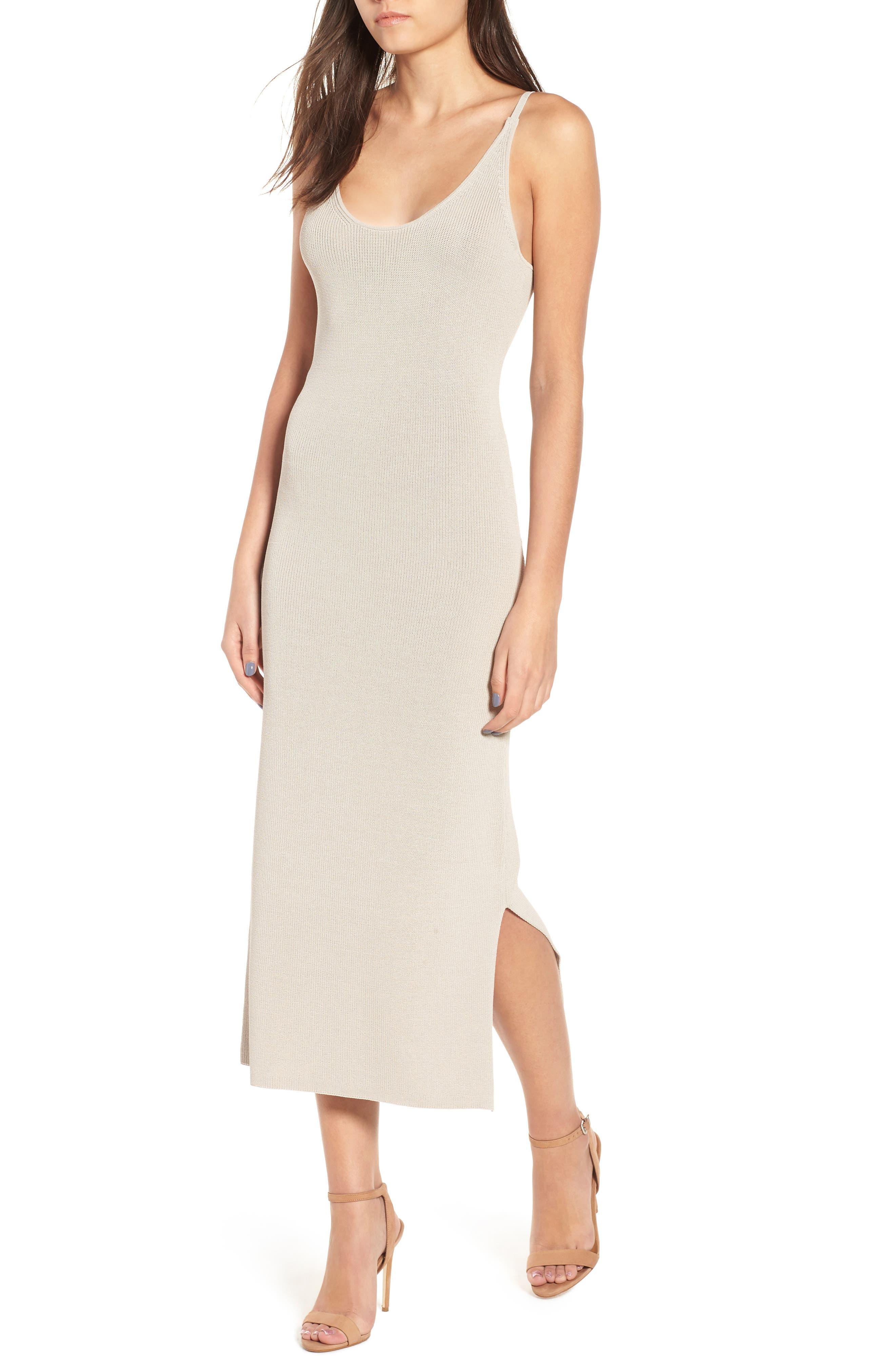 Sweater Strap Dress,                         Main,                         color, 050