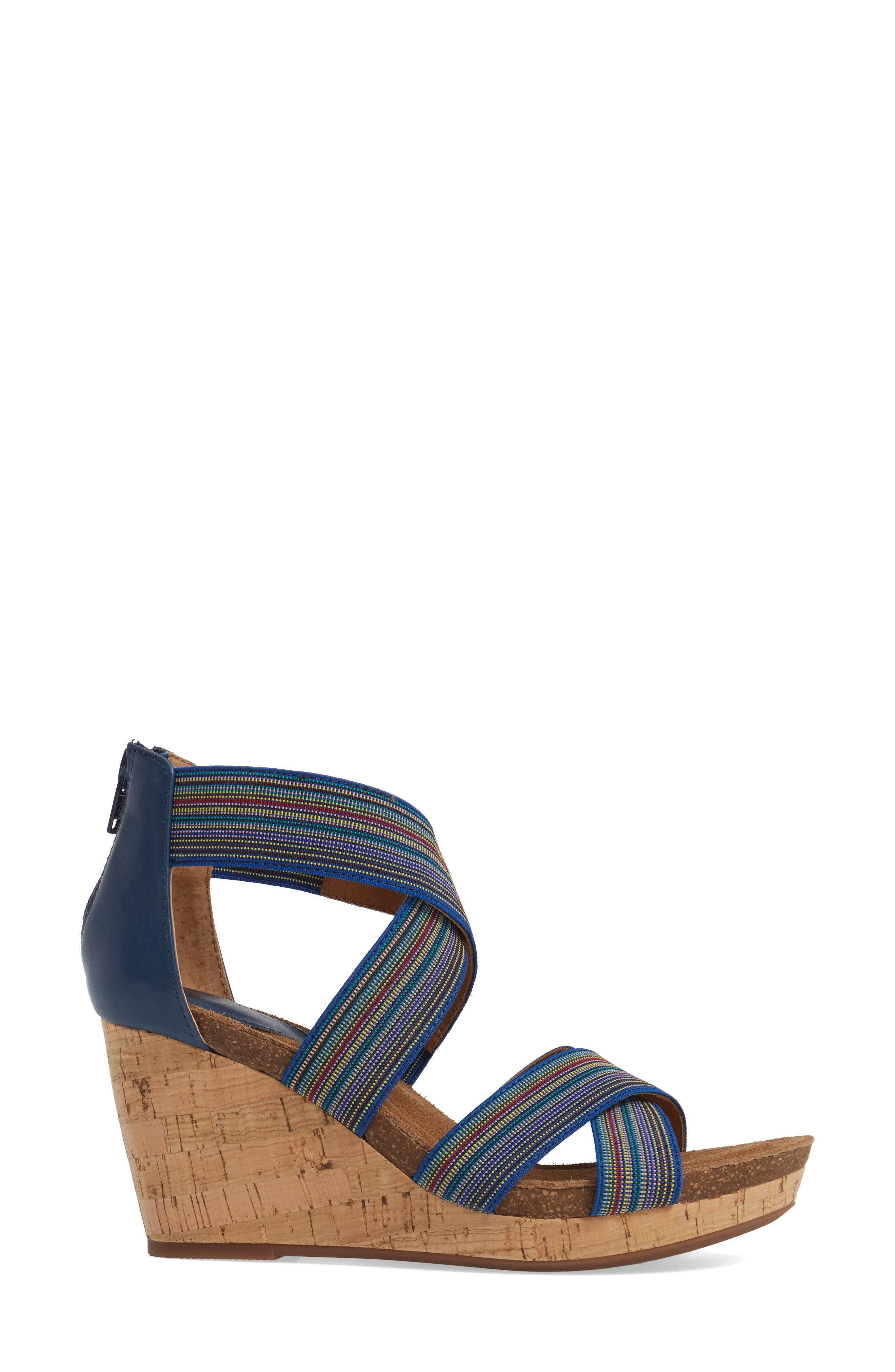 Cary Cross Strap Wedge Sandal,                             Alternate thumbnail 8, color,