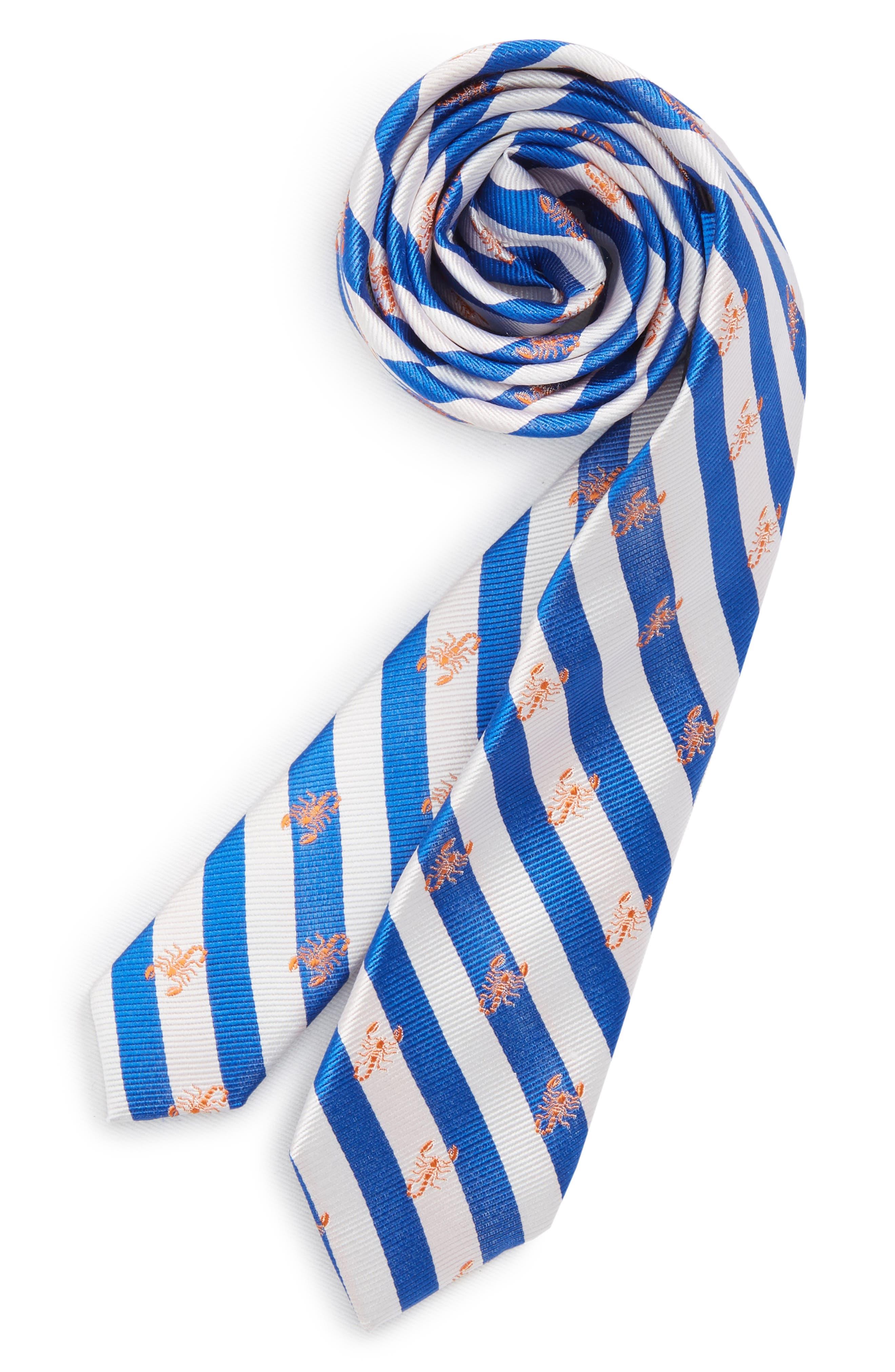 Scorpion Stripe Silk Tie,                             Main thumbnail 1, color,                             411