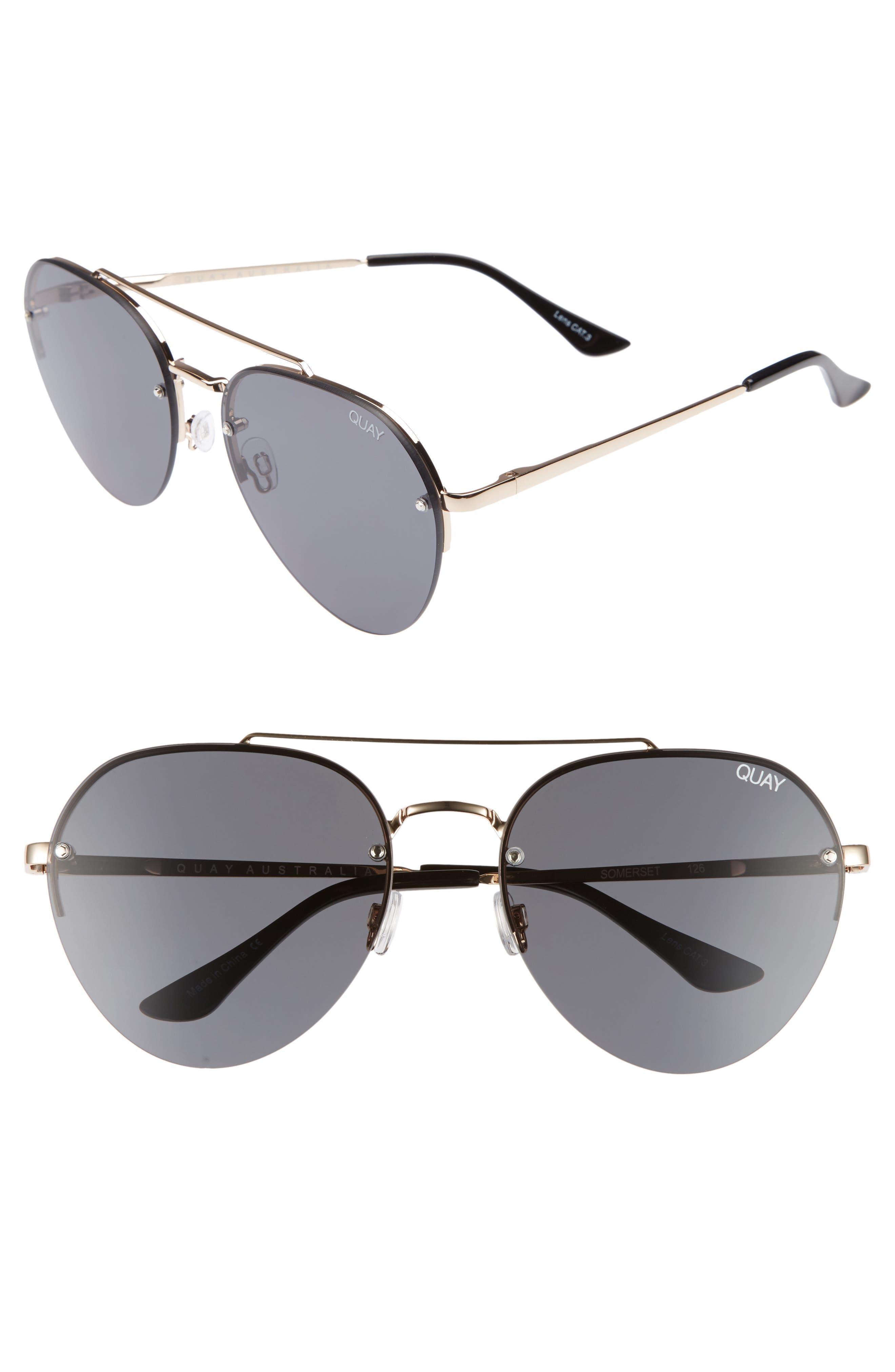 Somerset 65mm Aviator Sunglasses,                         Main,                         color, GOLD/ SMOKE