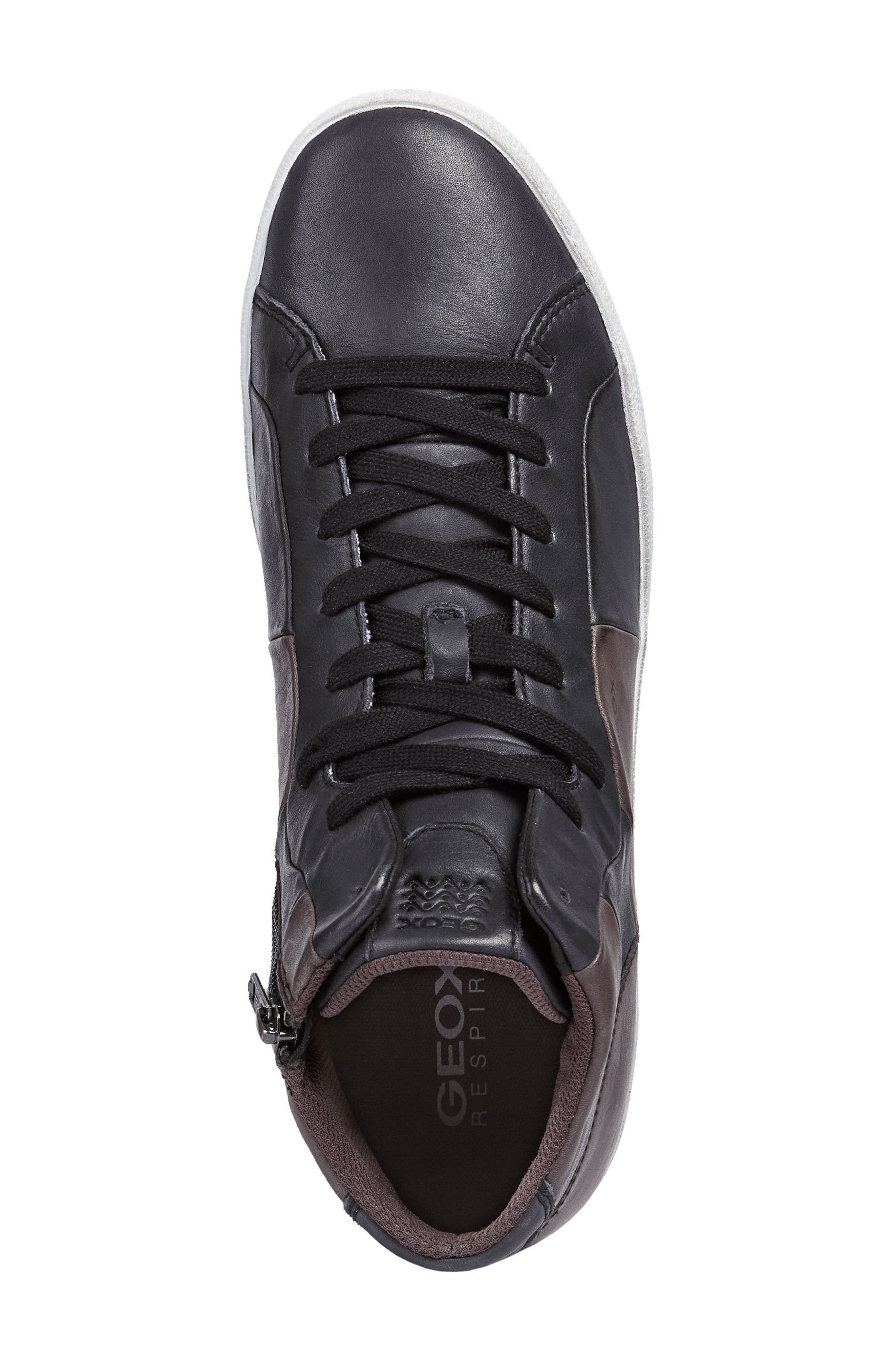 Smart 84 High Top Sneaker,                             Alternate thumbnail 5, color,                             BLACK/ COFFEE LEATHER