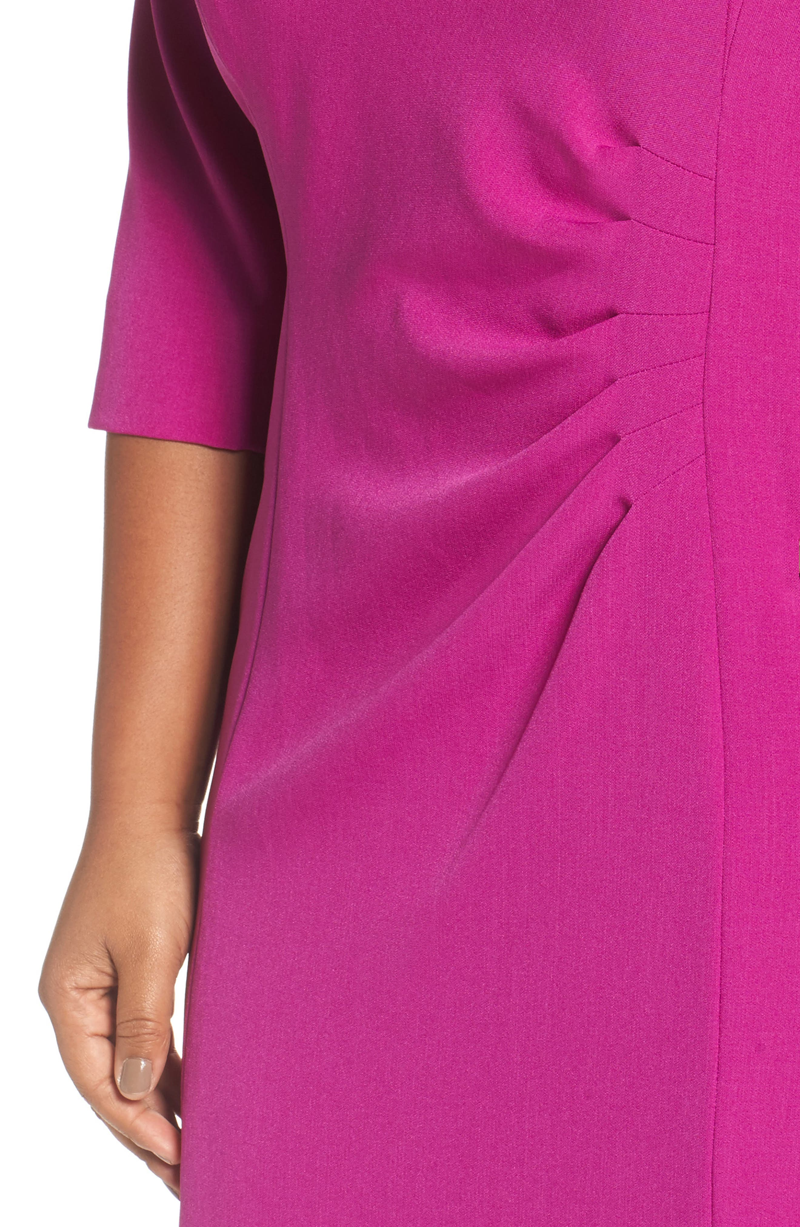 Ruched Sheath Dress,                             Alternate thumbnail 4, color,                             501